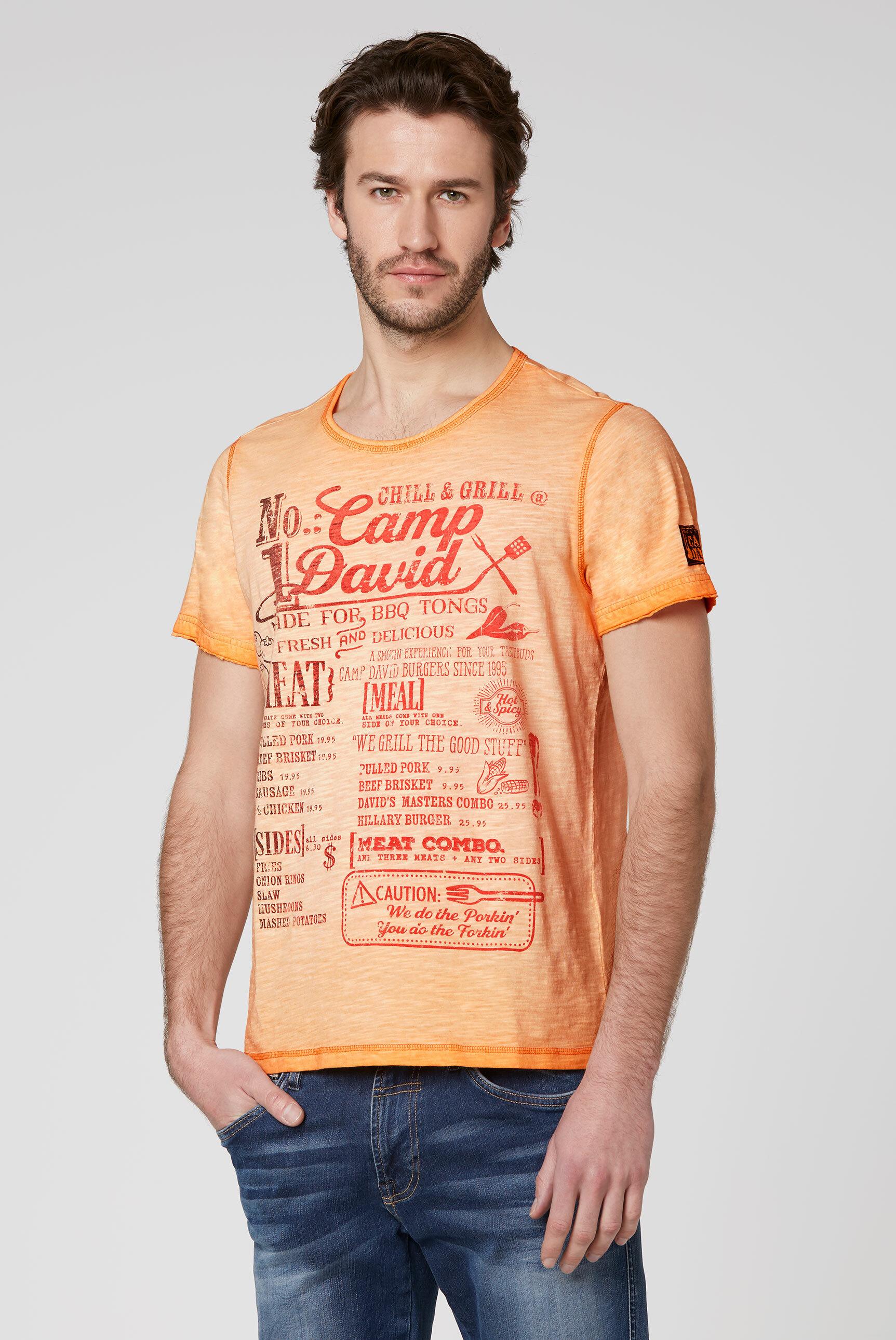 T-Shirt mit Print mit Farbverlauf