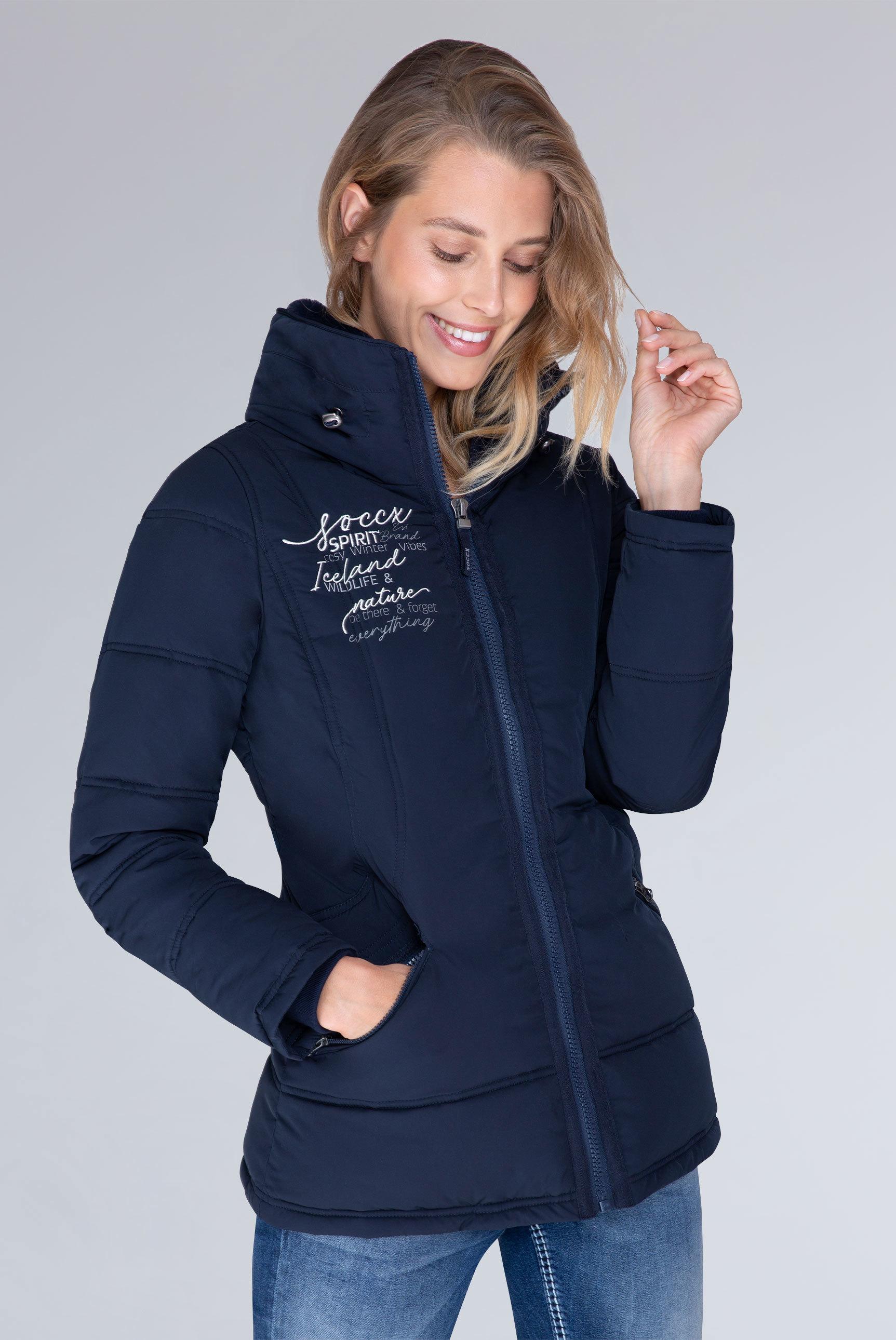 outlet on sale best price online shop CAMP DAVID & SOCCX | Winterjacke mit Doppelkragen