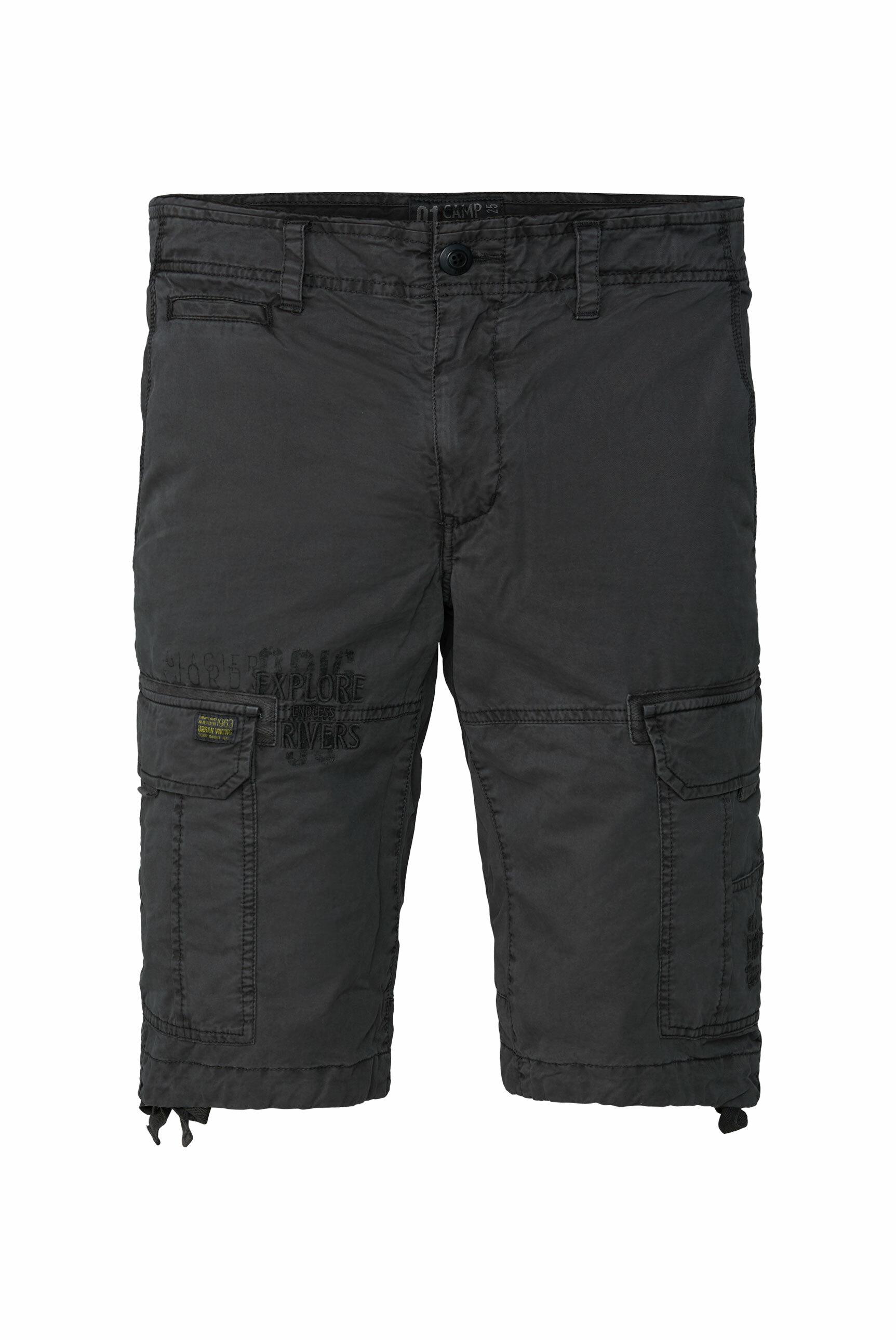 Cargo Shorts mit Prints und Stickereien