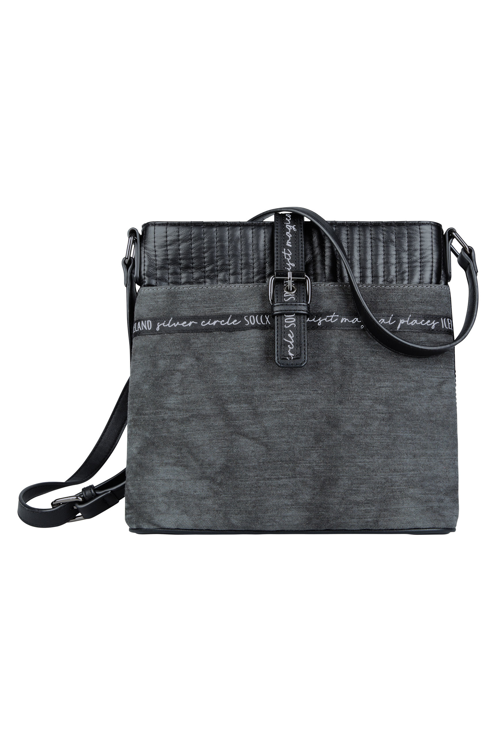 Crossbody Bag aus gestepptem Kunstleder