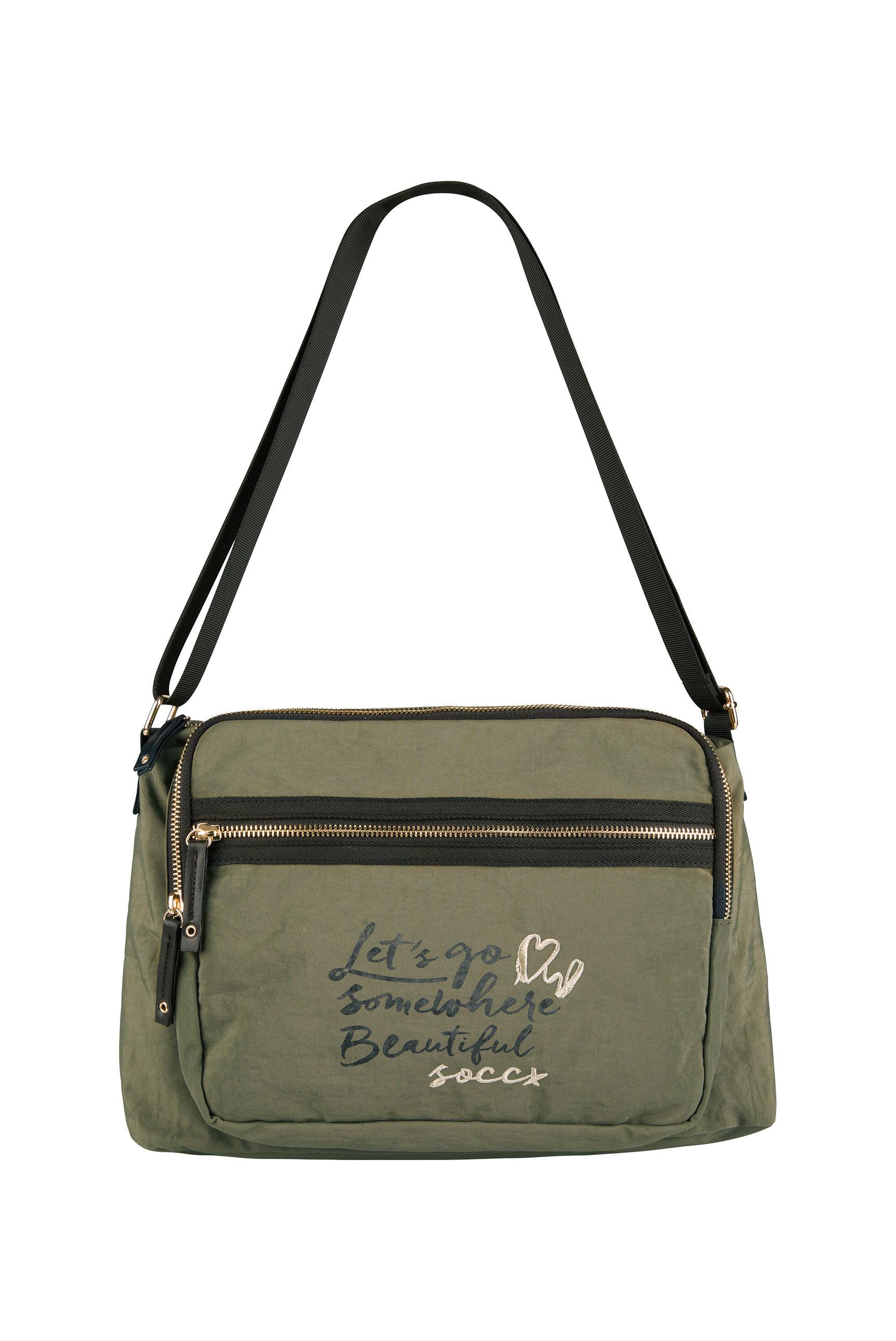 Crossbody Bag aus Nylon mit Artwork