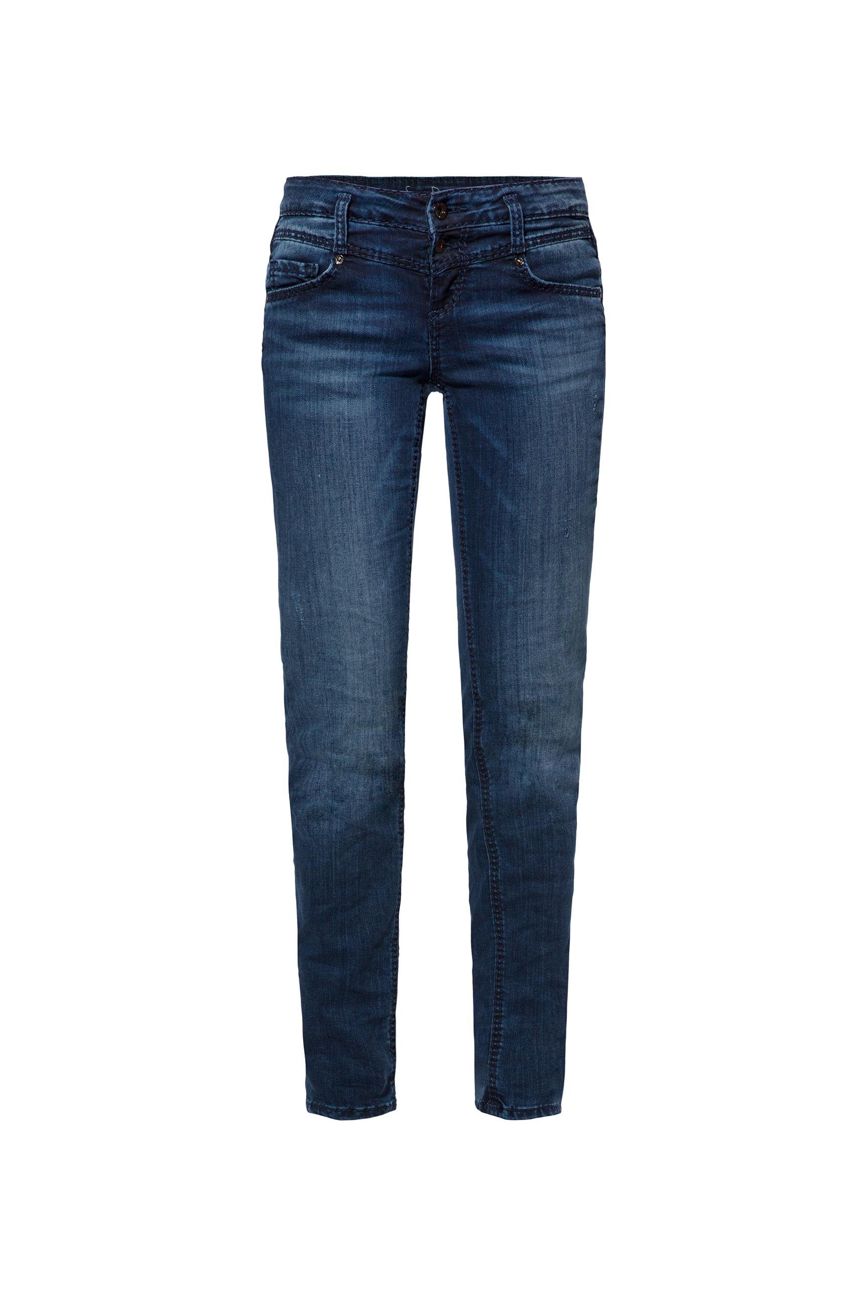Destroyed Jeans KA:RA mit dunkler Waschung