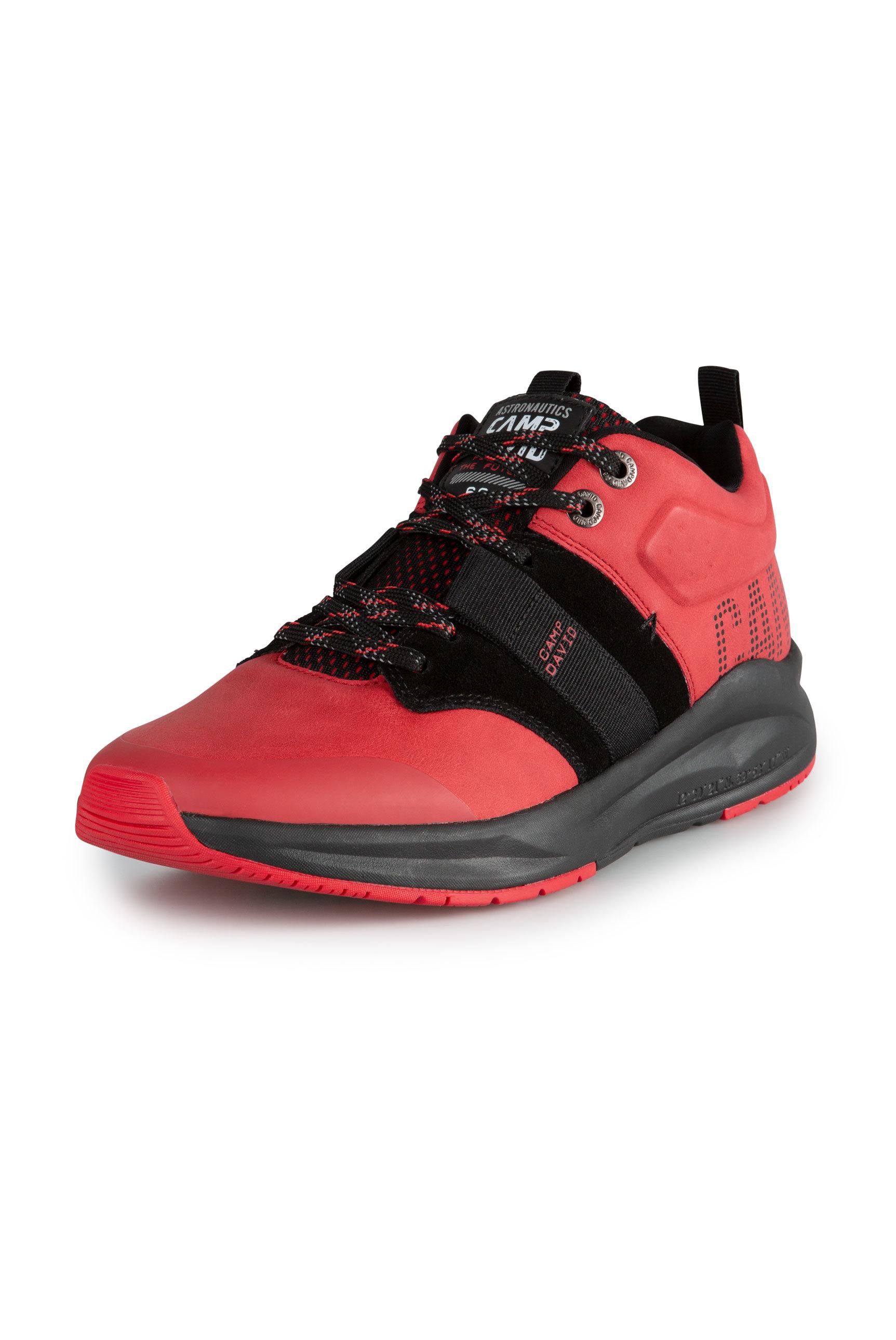 Premium Sneaker im Materialmix mit Logo