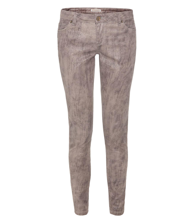 Slim-Fit-Jeans mit Glitzer-Coating