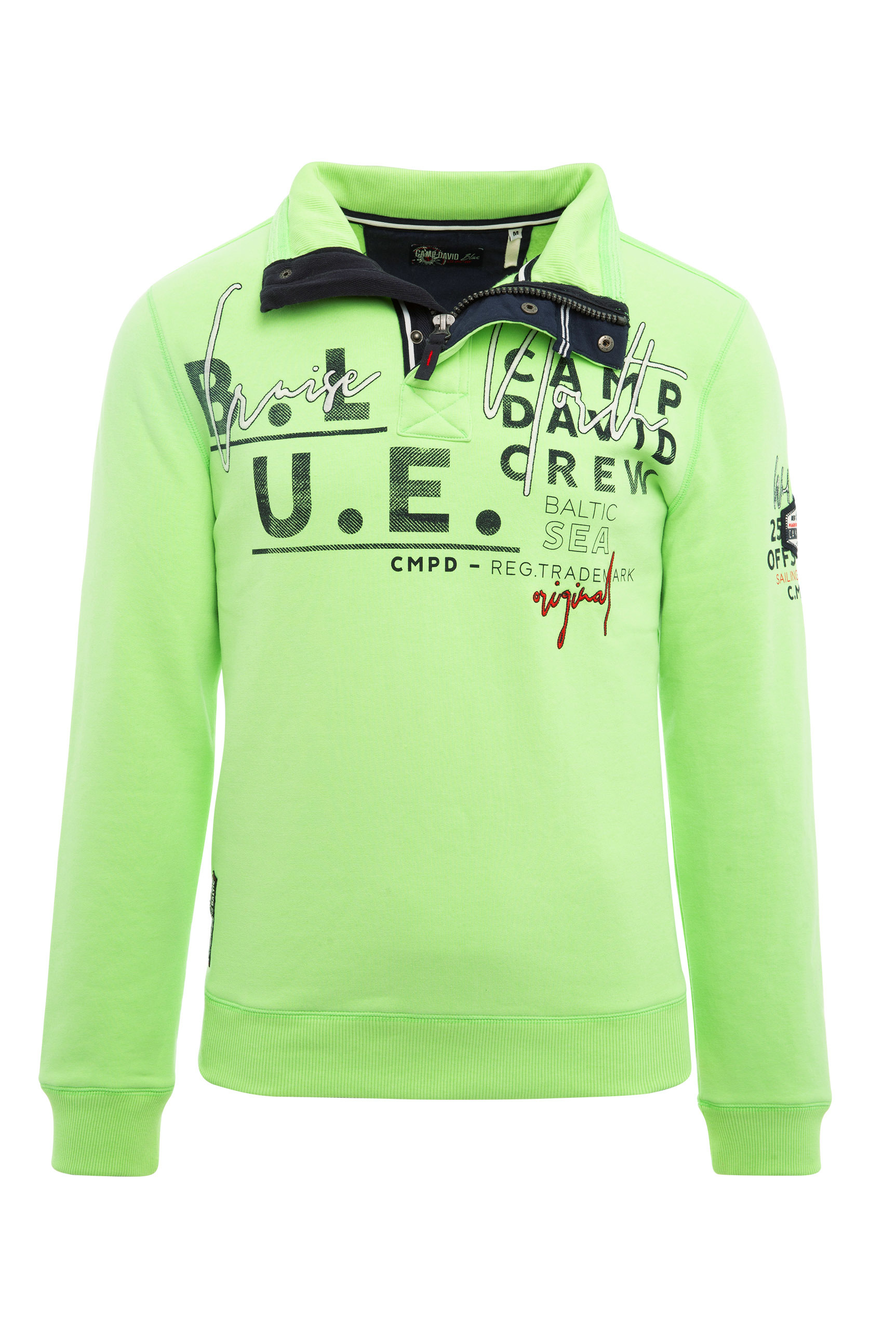 Troyer-Sweatshirt mit Label-Applikationen