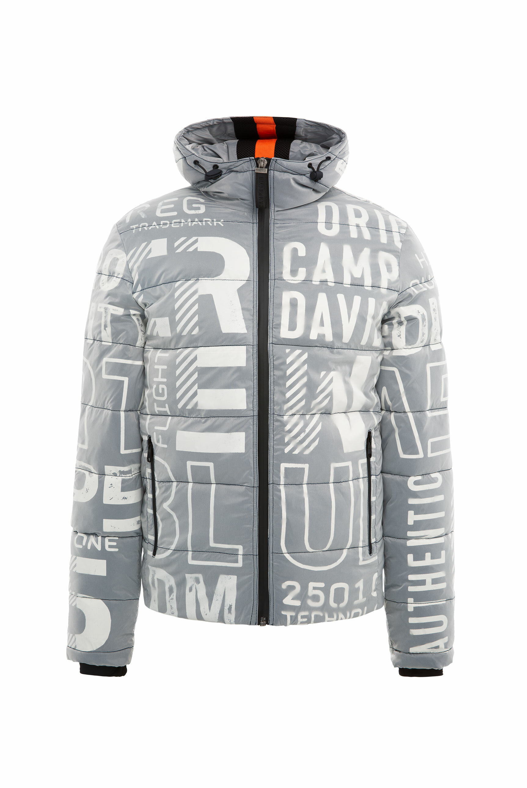 Winterjacke mit All Over Print