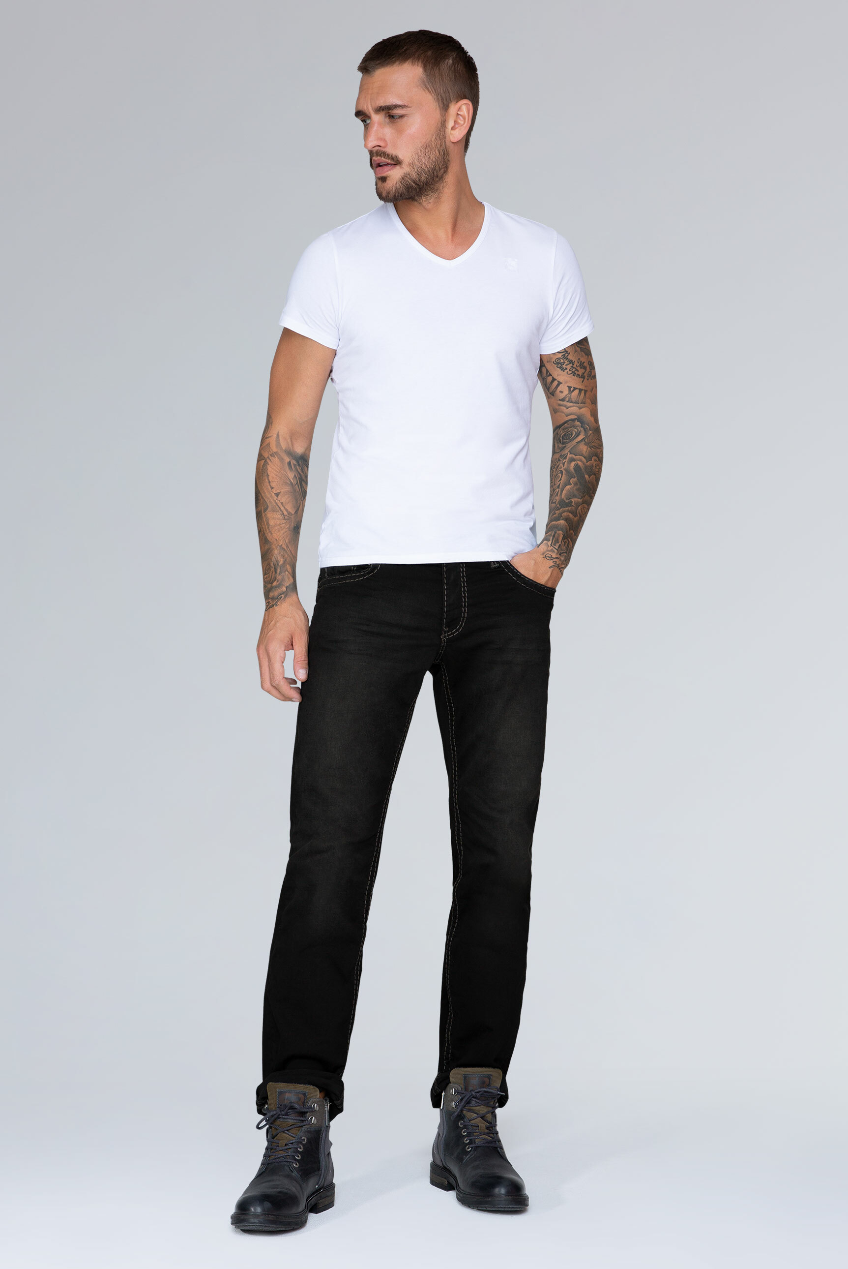 Black Used Denim CO:NO Comfort Fit
