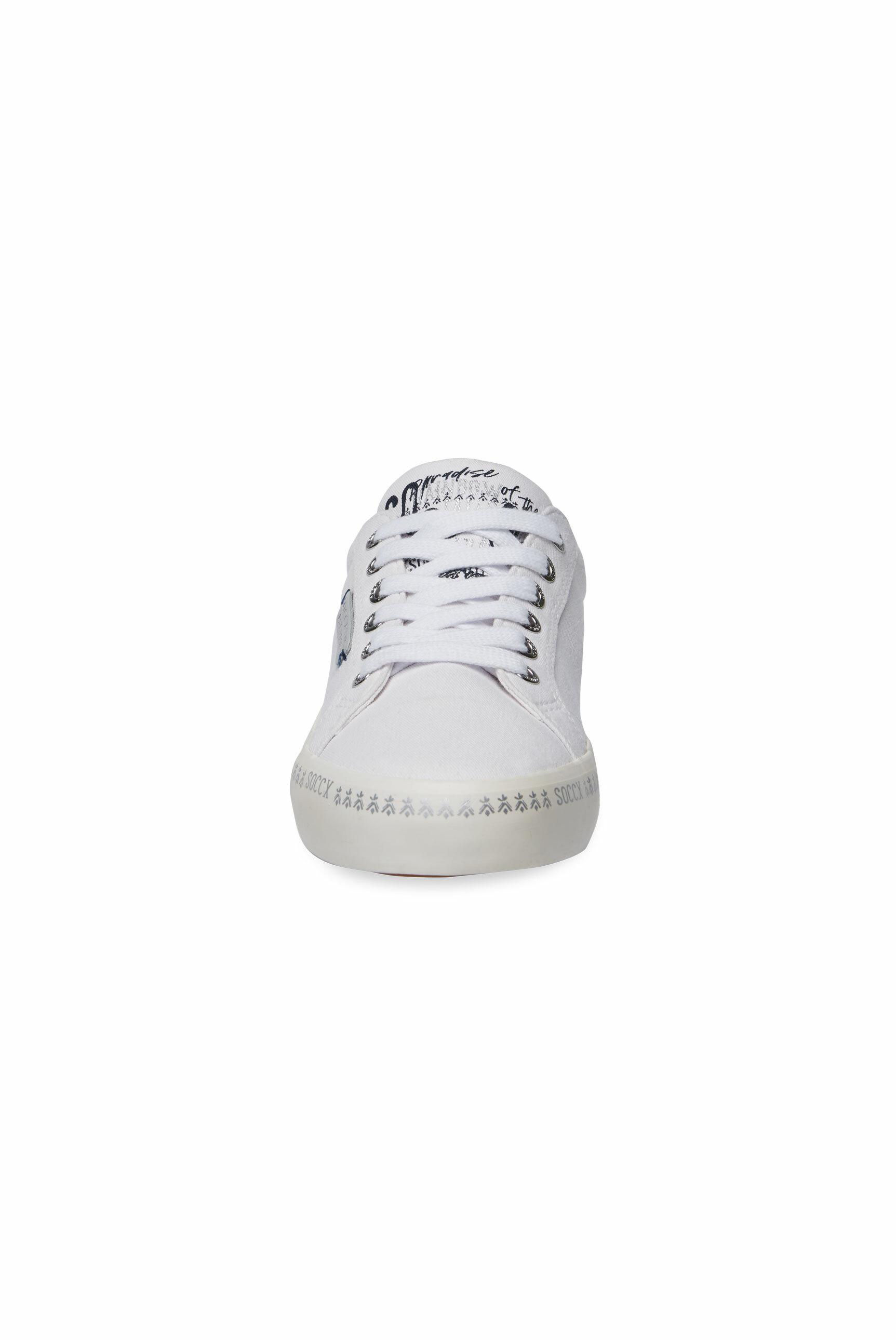 Canvas Sneaker mit bedruckter Sohle