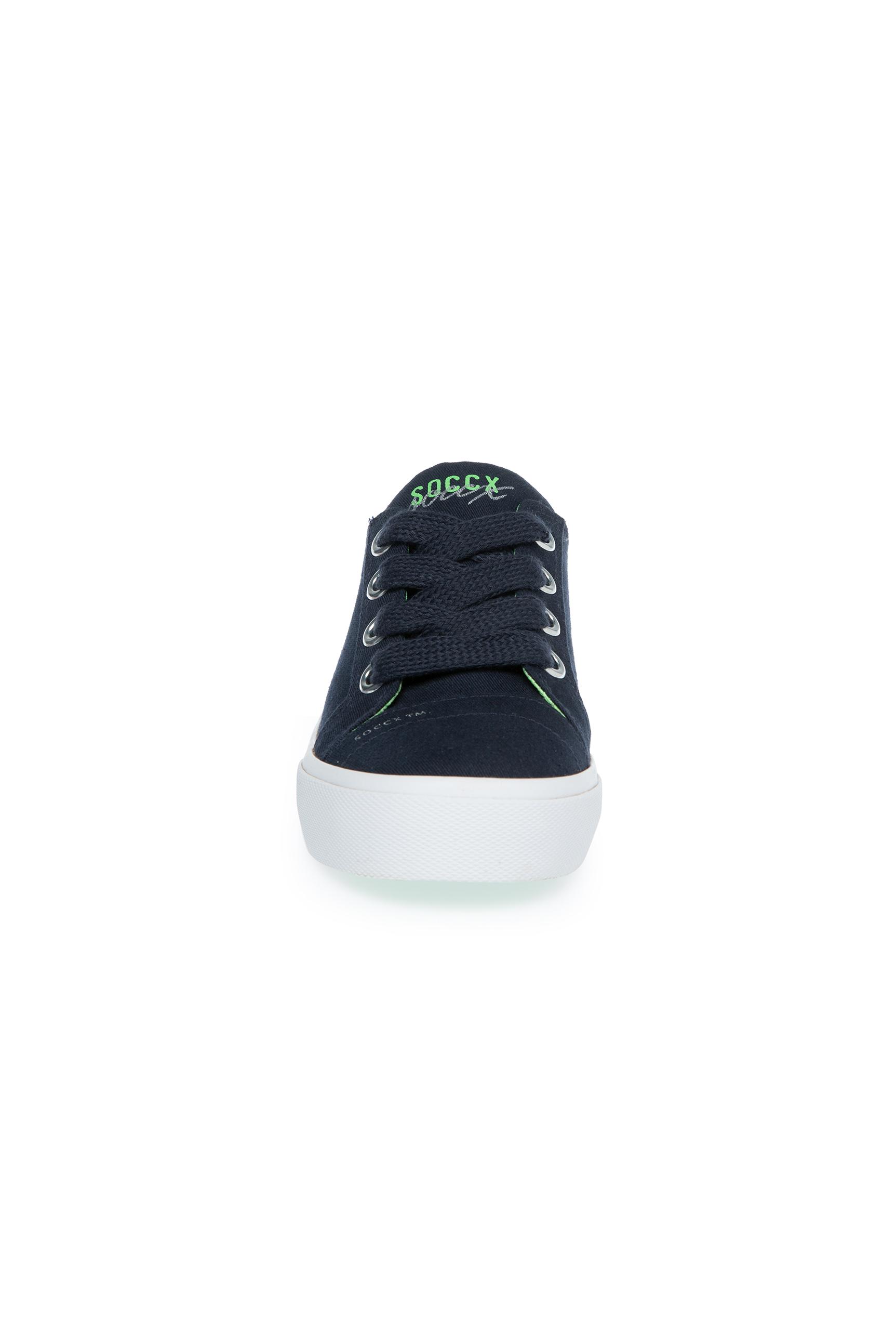 Canvas Sneaker mit Plateau-Sohle