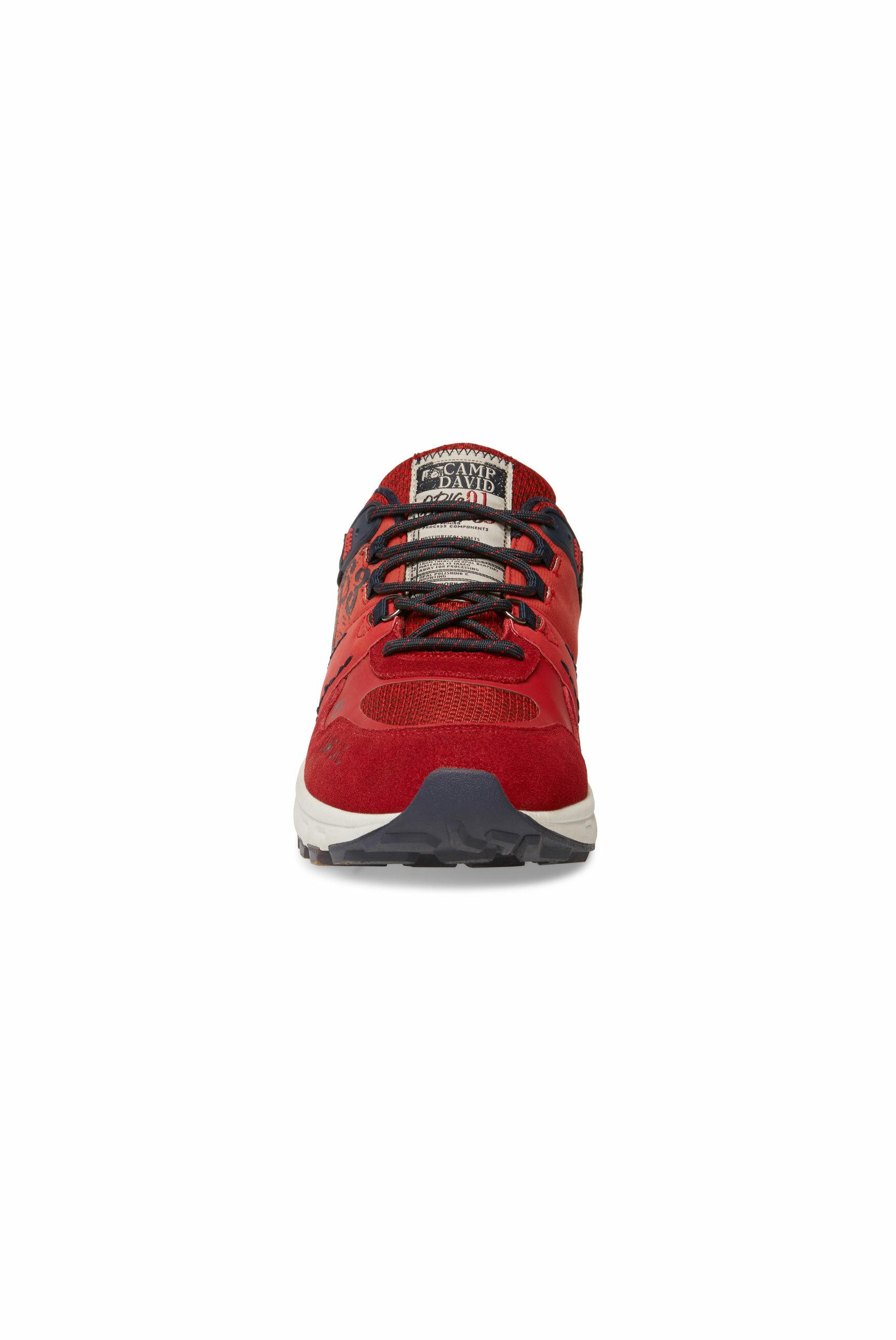 City Hiking Sneaker mit Logo-Applikationen