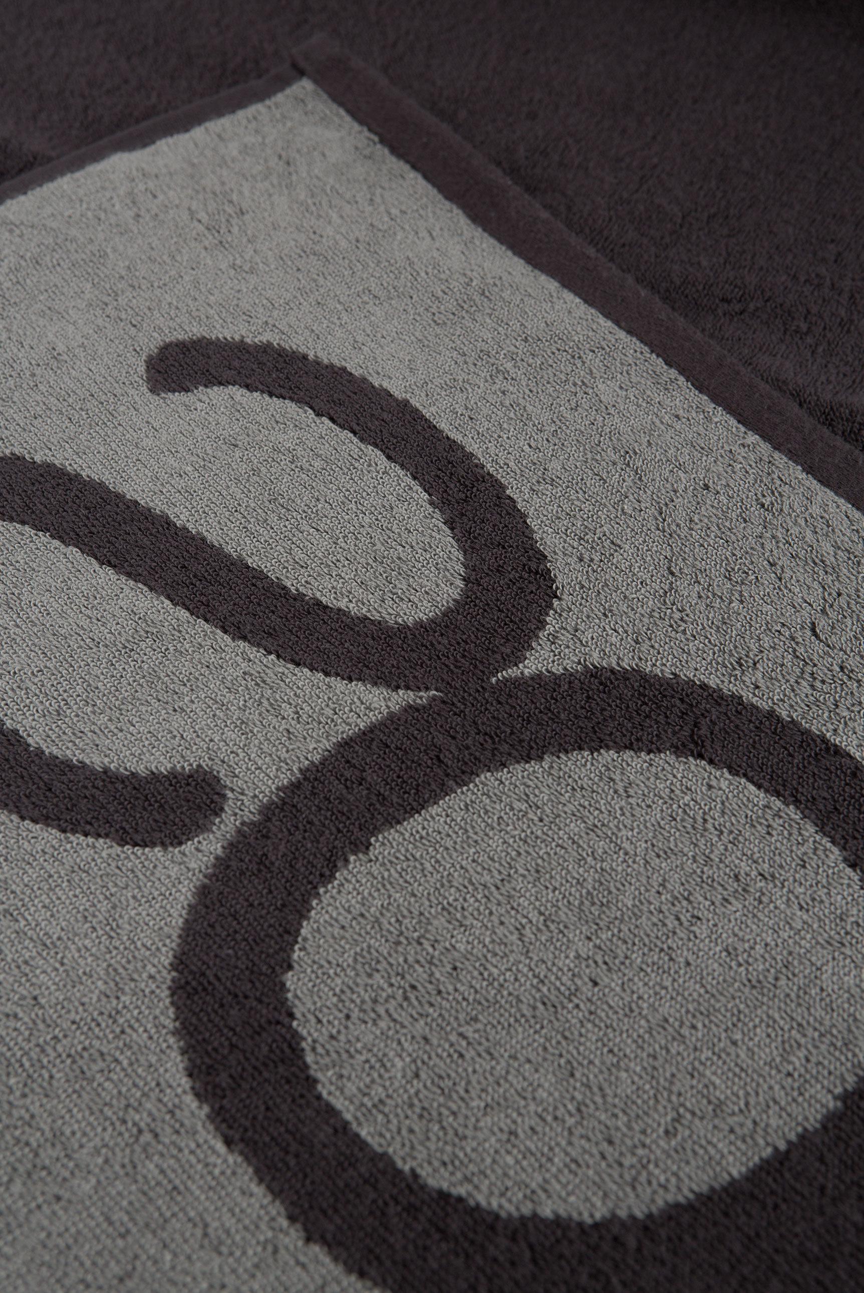 Duschtuch aus Frottier mit Logo