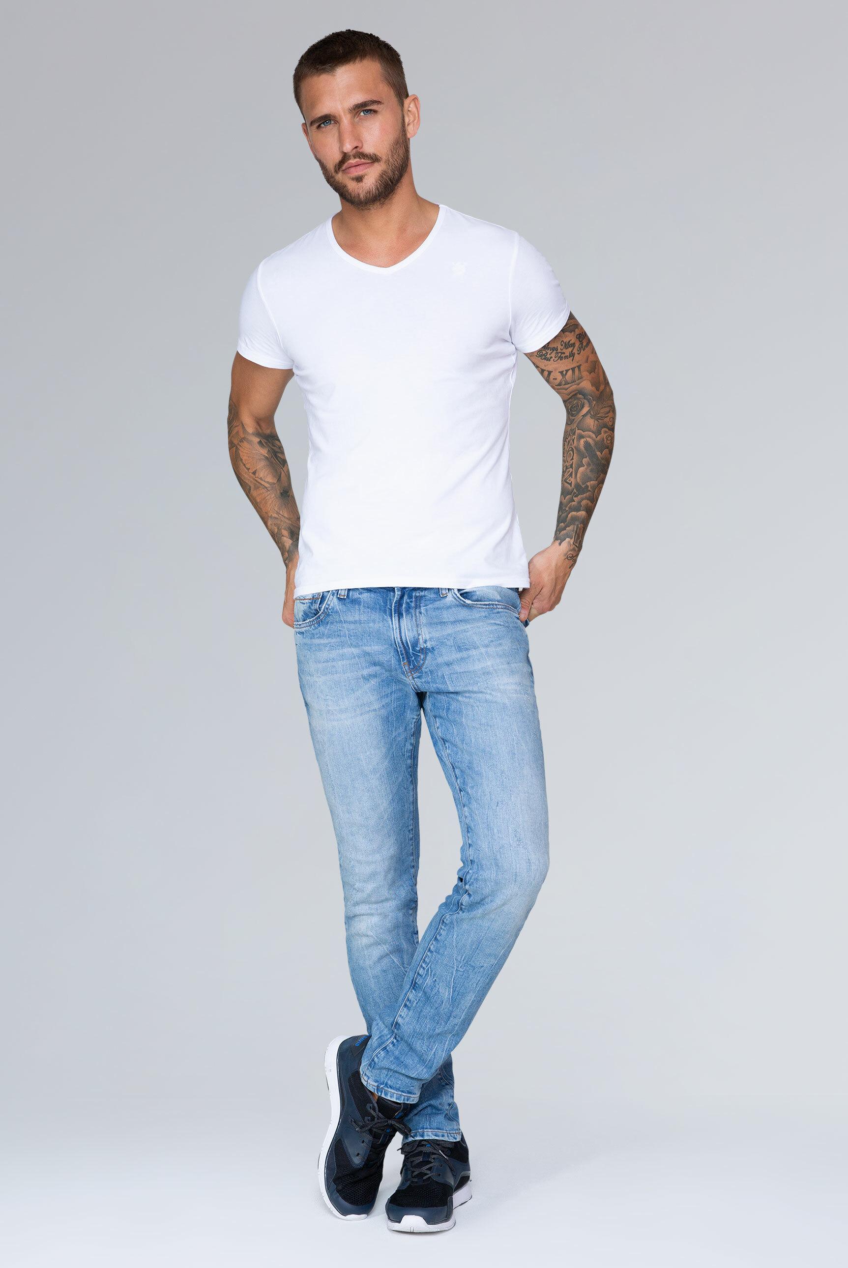 Five Pocket Jeans NI:LS im Light Used Look