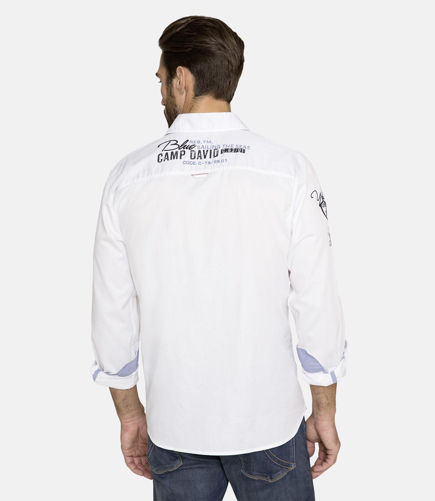Hemd aus Twill mit Artworks, Regular Fit