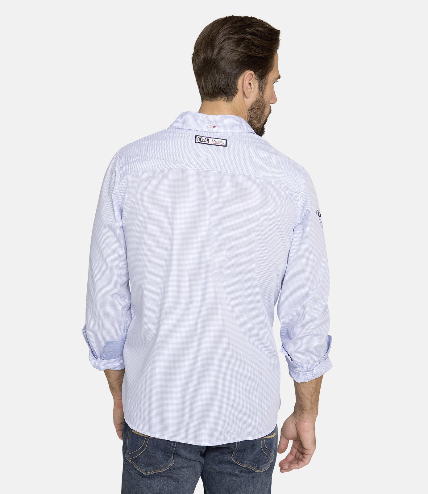 Hemd mit Mini Vichy Karo, Regular Fit