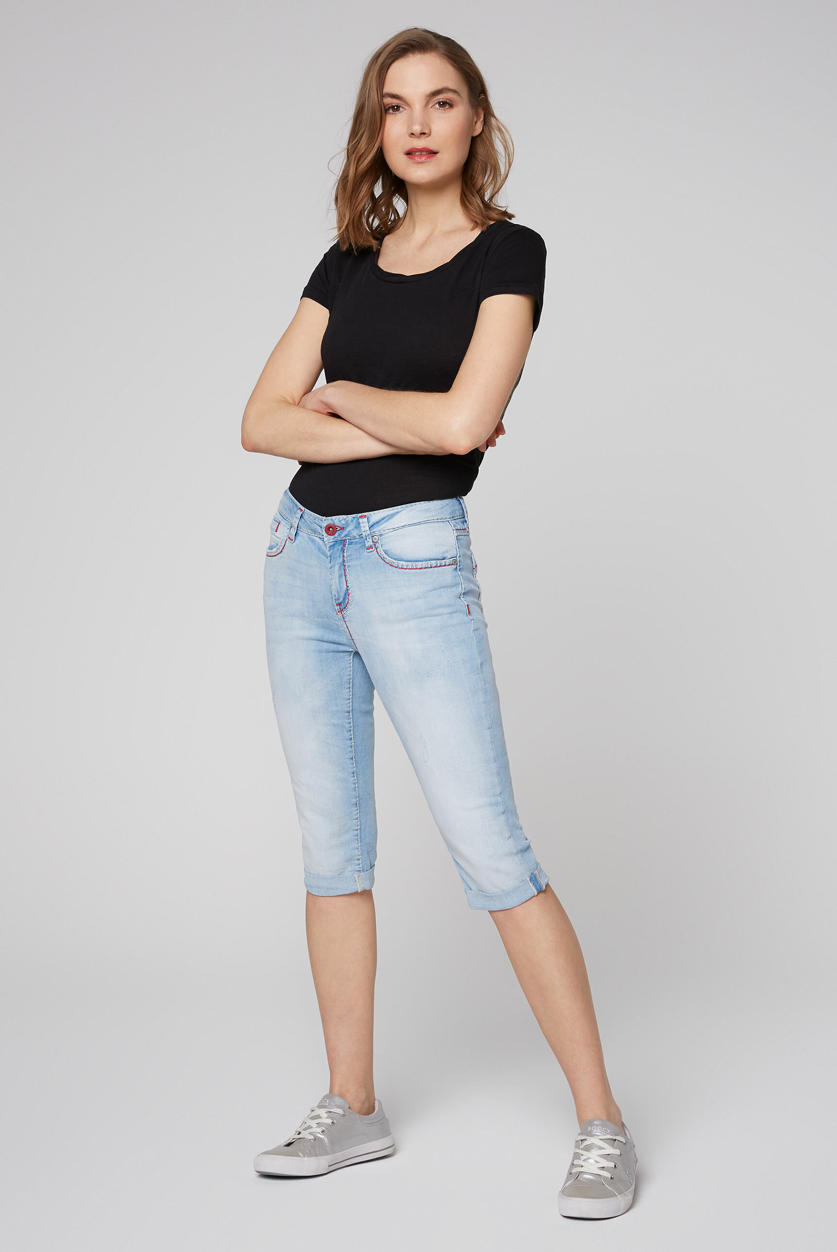Jeans Bermuda RO:MY im Sunny Bleached Look