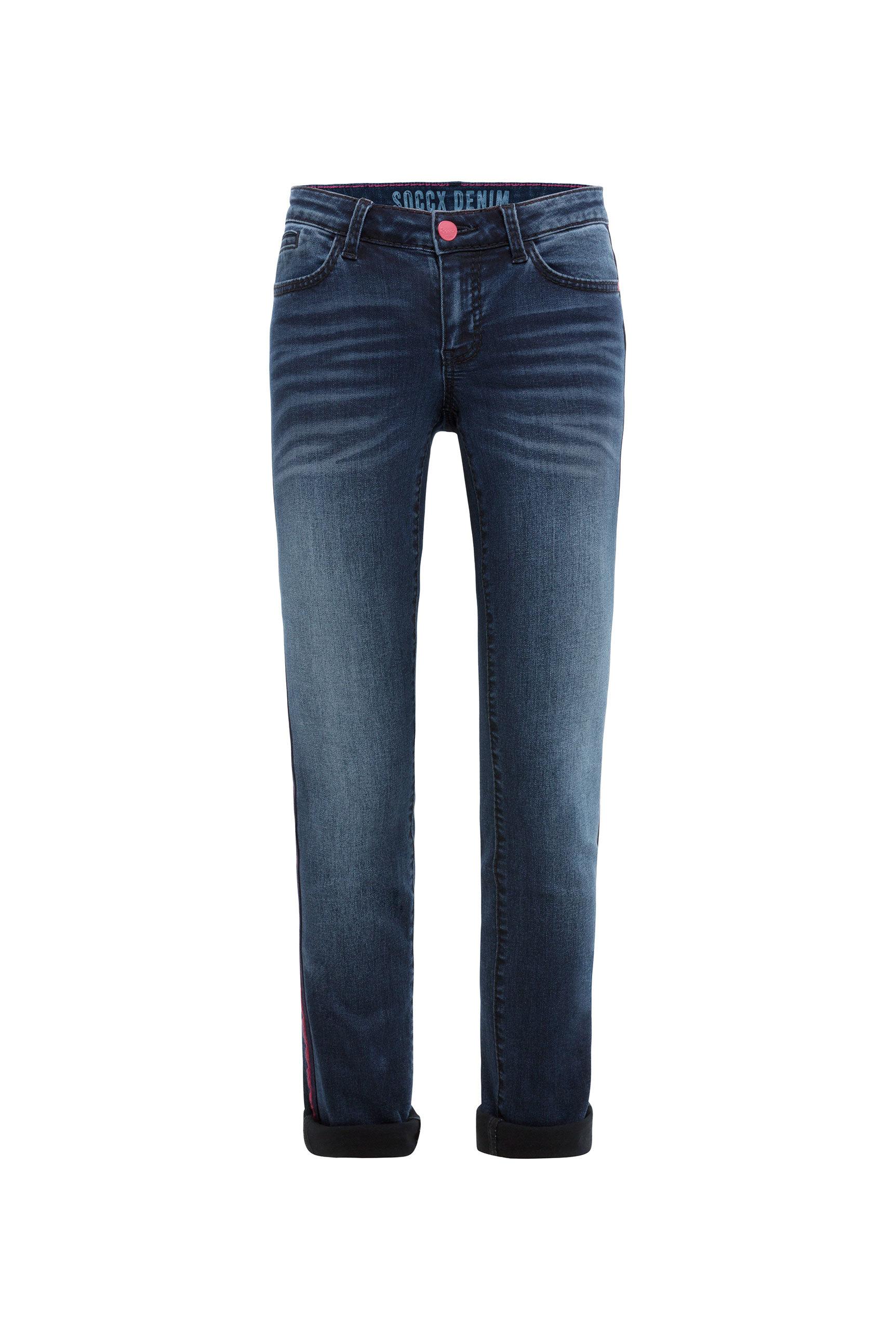 Jeans RO:MY mit Moustache-Effekten und Seitentape