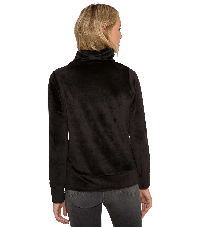 Nicki Sweatshirt mit asymmetrischem Kragen