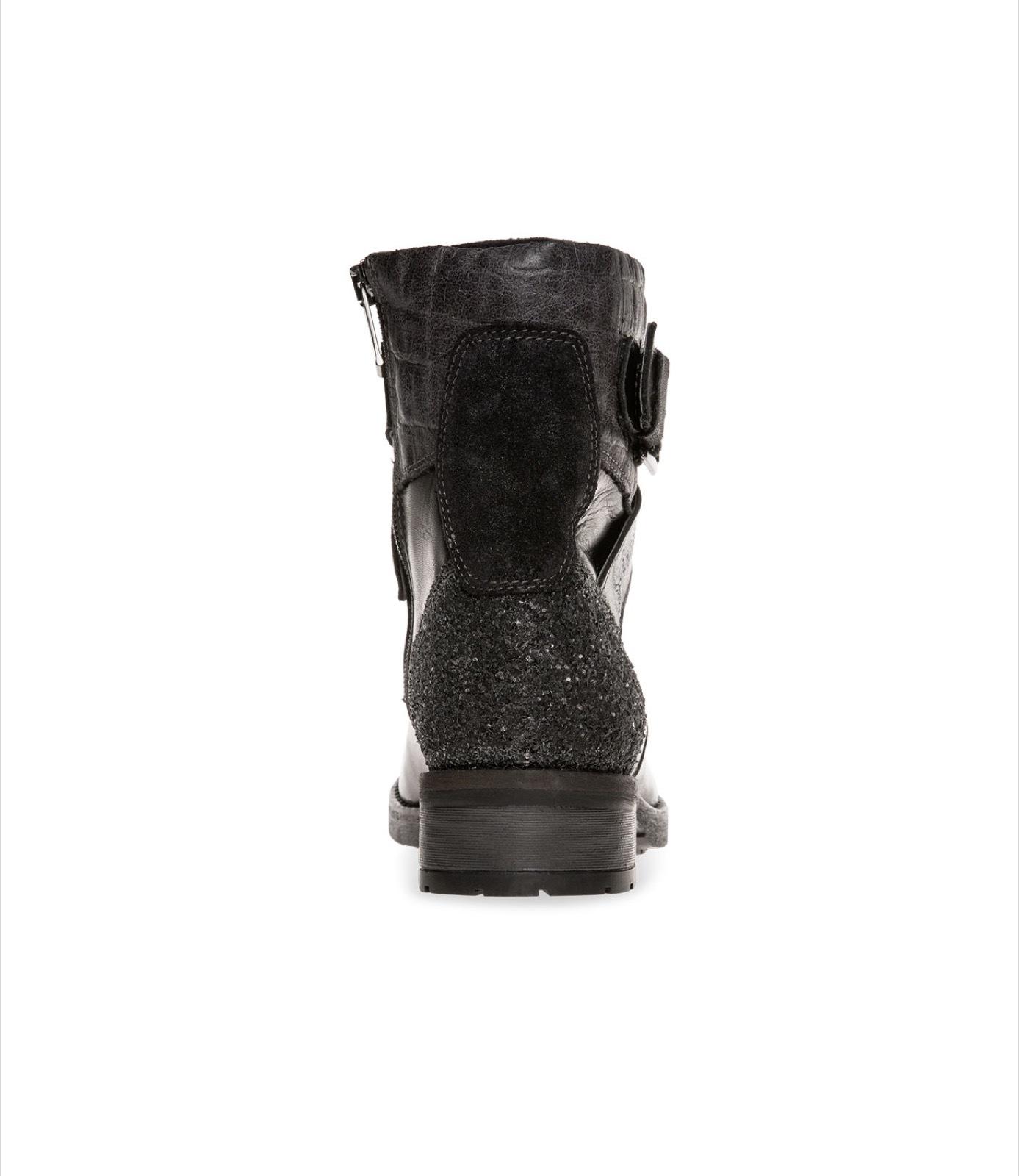 Premium Leder Boots mit Zierriemen