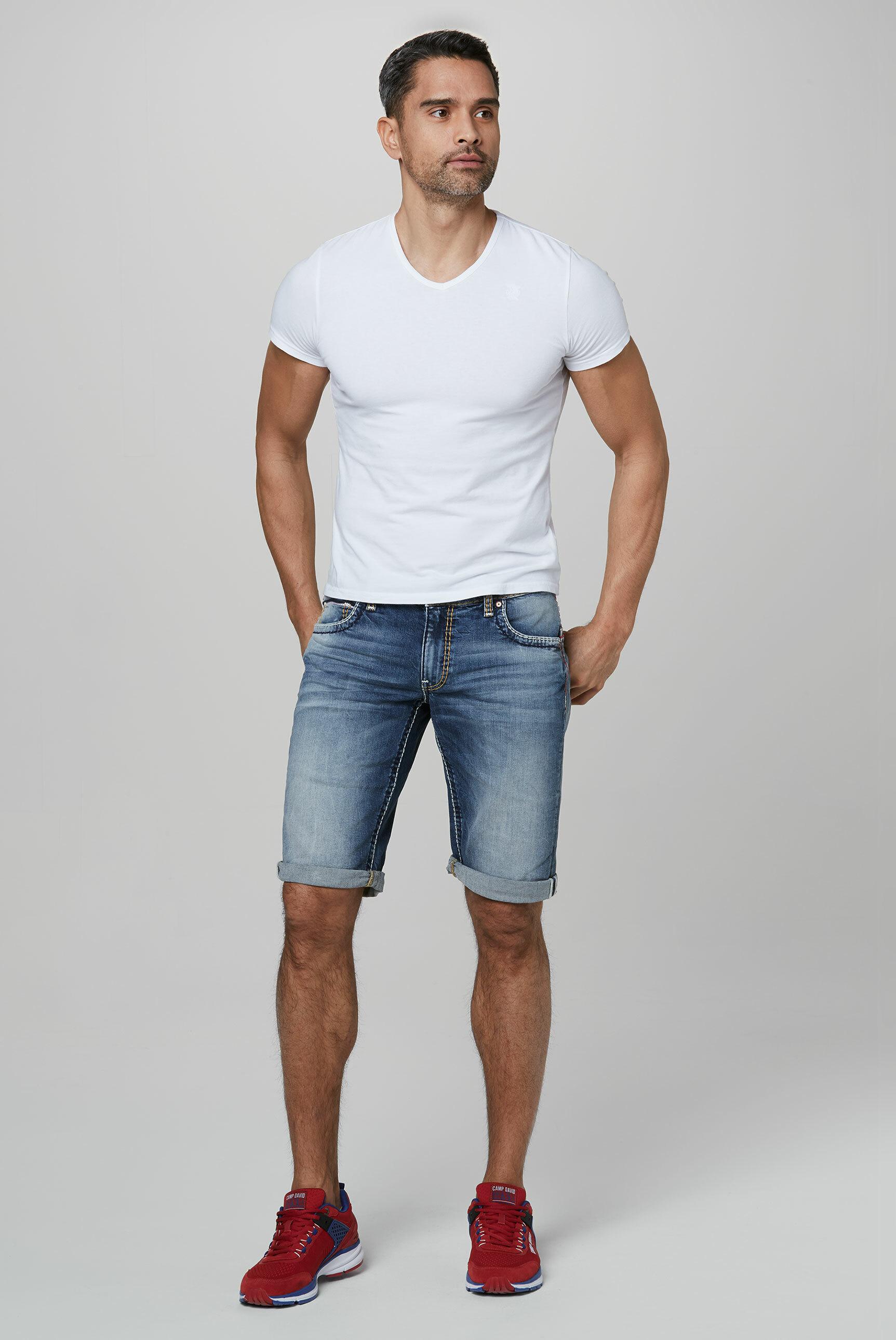 Skater Jeans CO:NO mit bunten Nähten