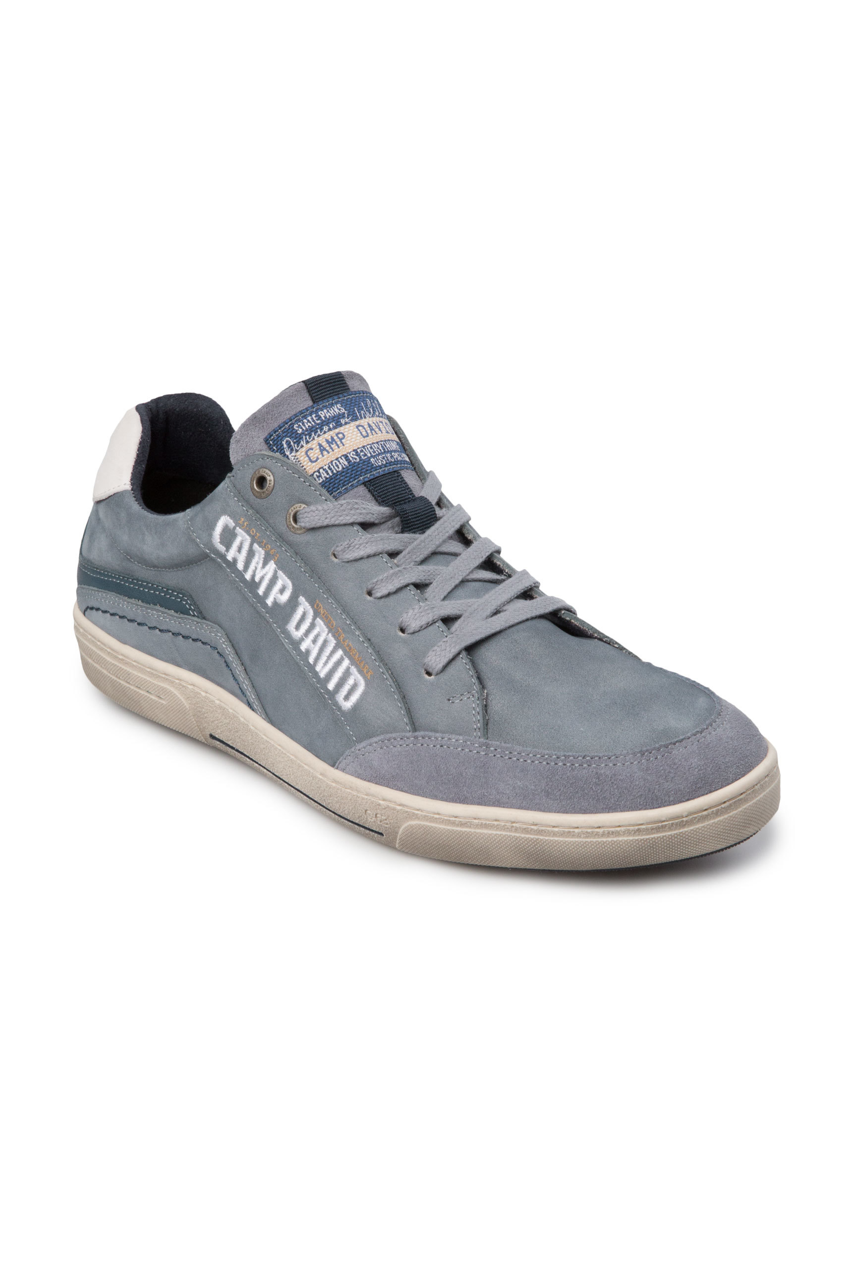 Sneaker aus Leder mit Logostick