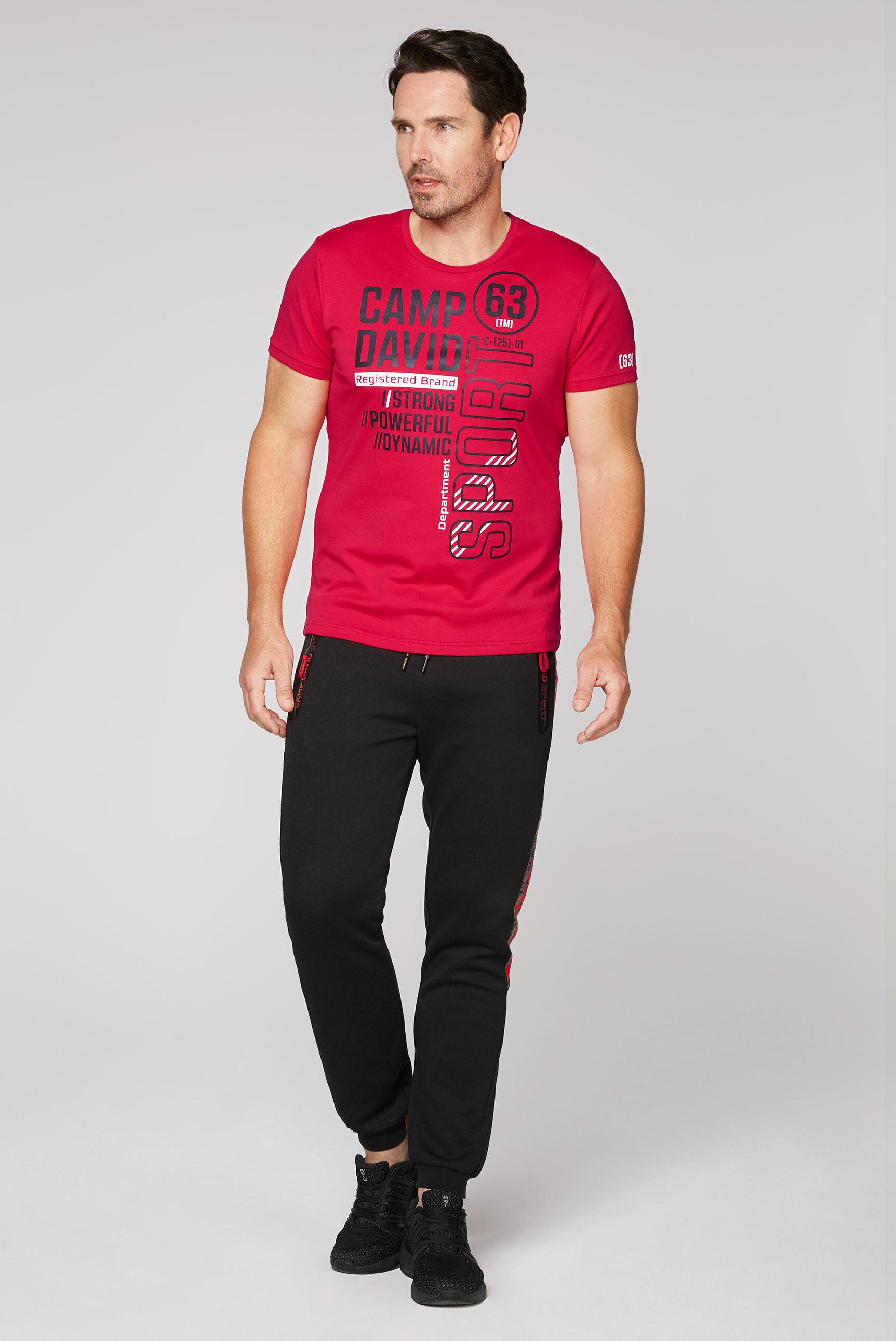 T-Shirt aus Interlock mit Folien-Prints