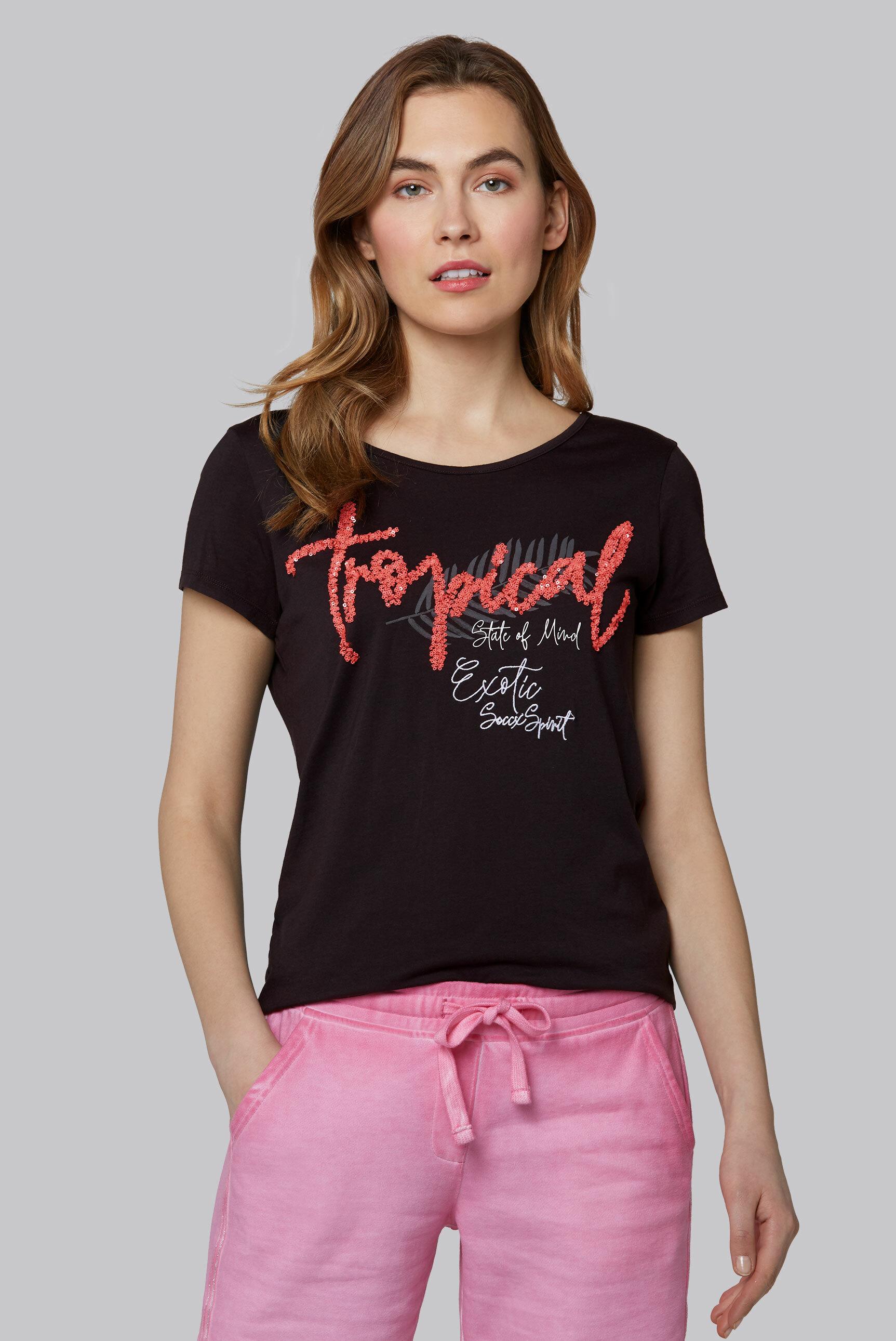 T-Shirt mit dekorativem Rücken-Design