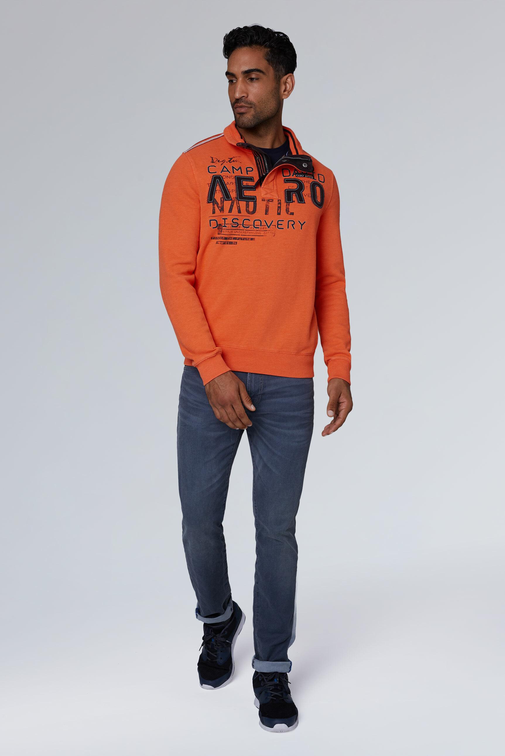 Troyer-Sweatshirt mit Label-Applikationen