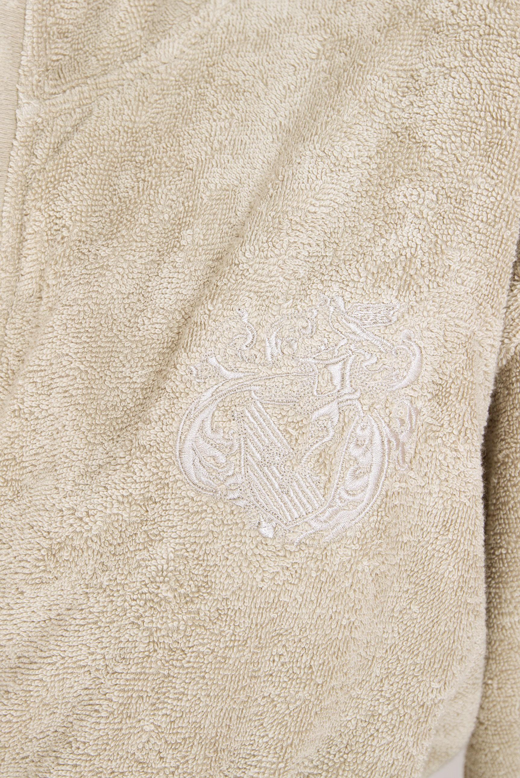Bademantel mit Kapuze und Logo Design