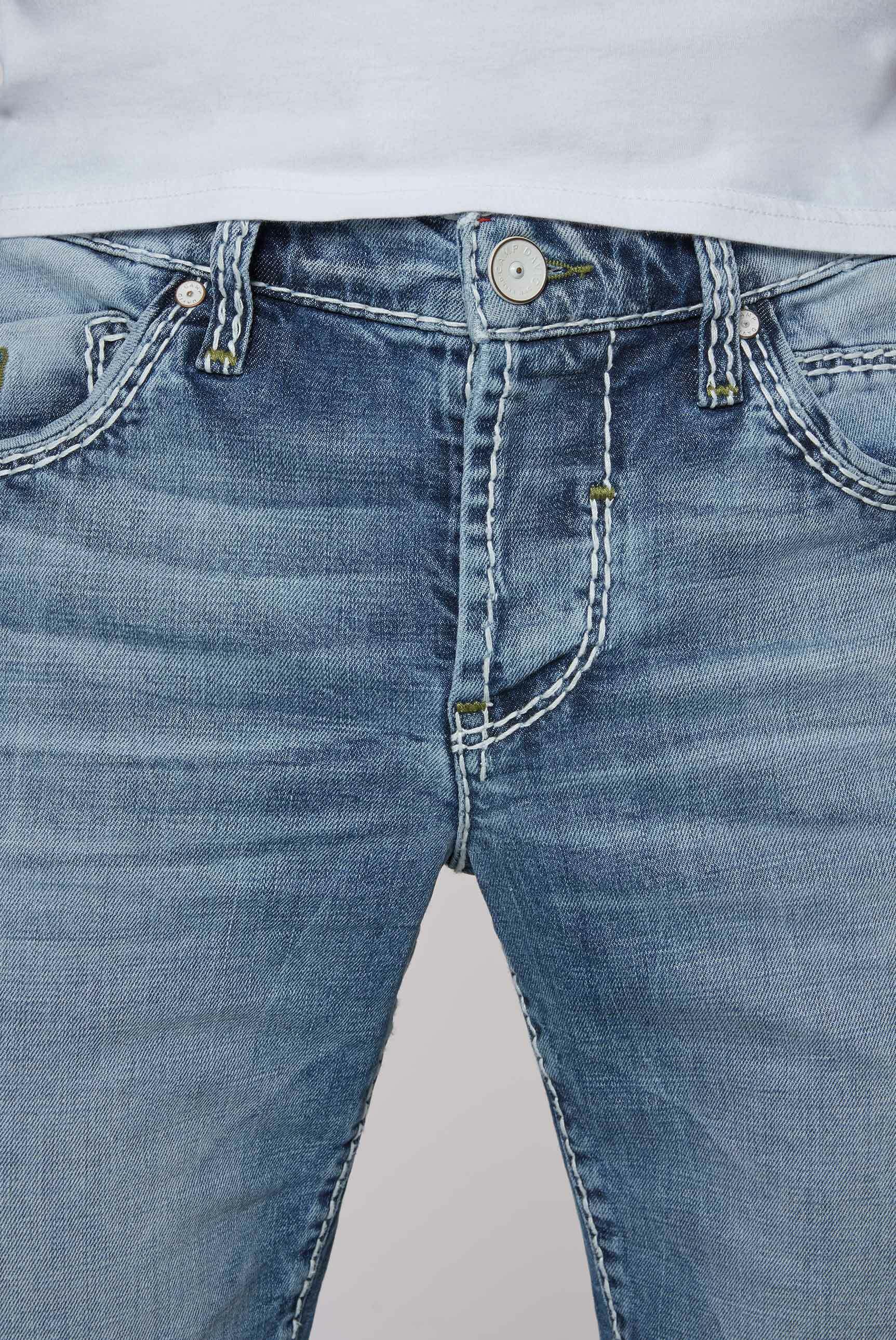 Bleached Skater Shorts RO:BI mit Knopfleiste