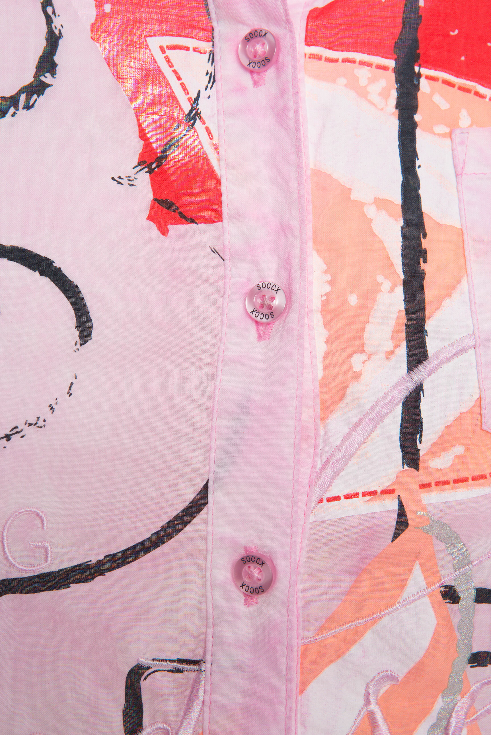 Bluse Oil Dyed mit Artwork