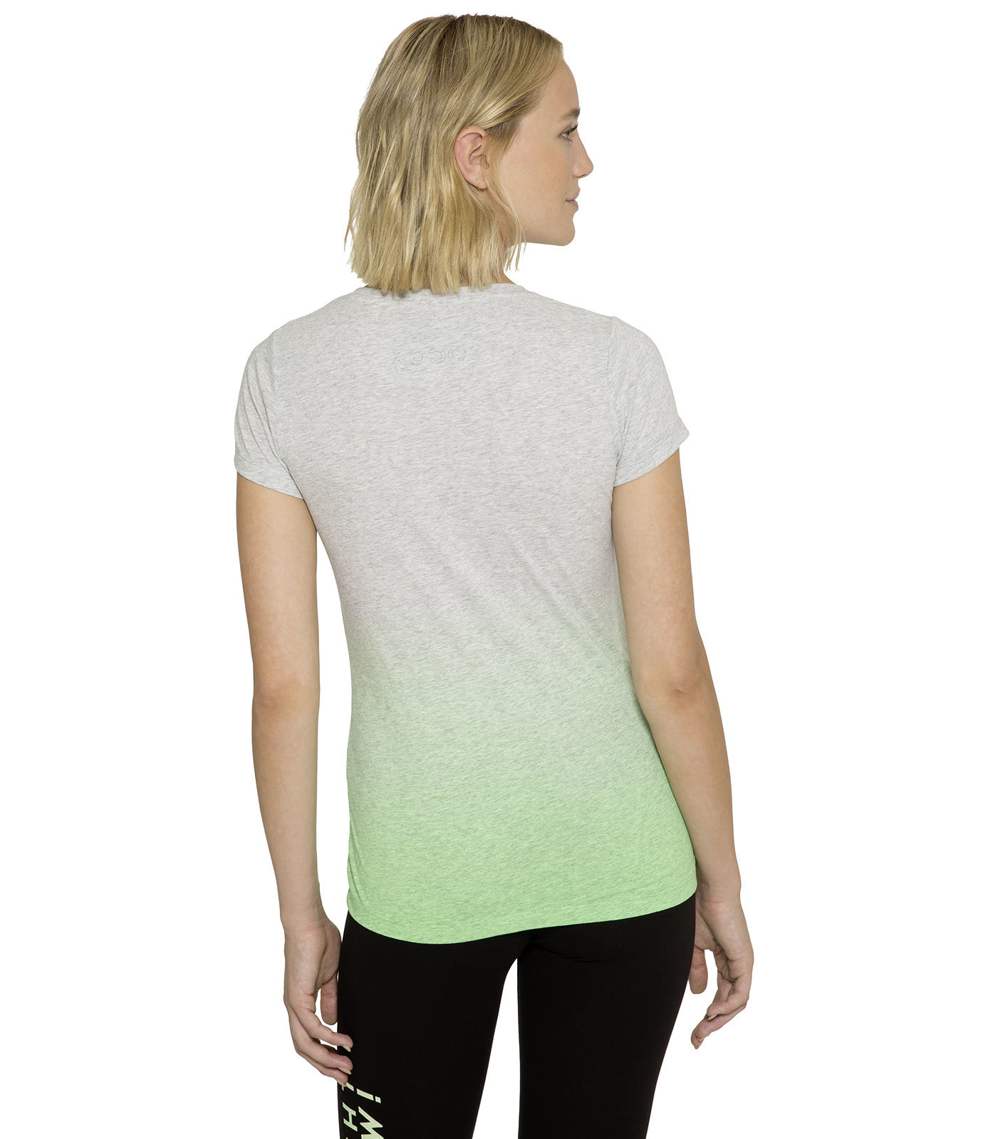 Dip Dye T-Shirt mit Folienprint