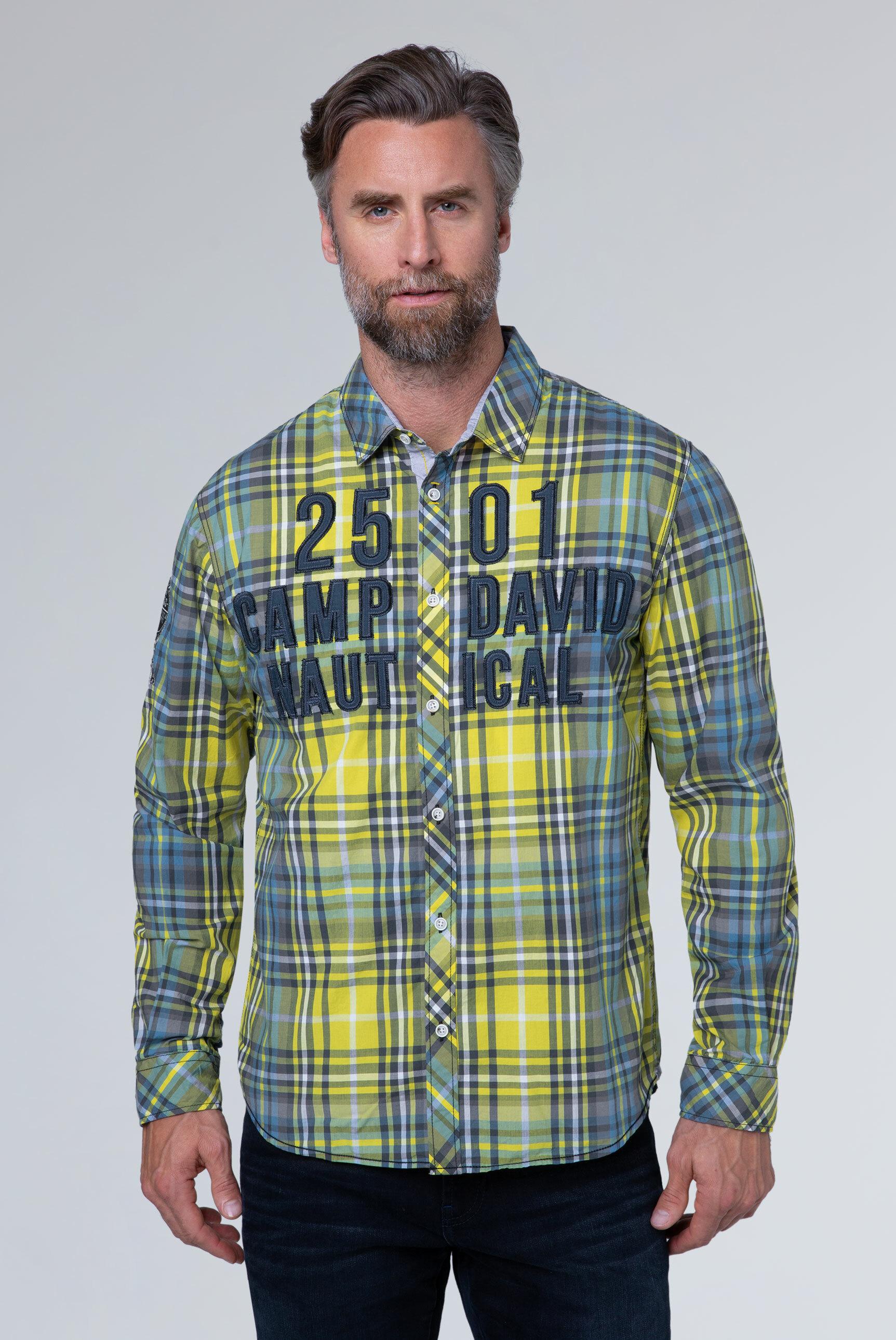 Großkariertes Langarmhemd mit Logo-Artwork