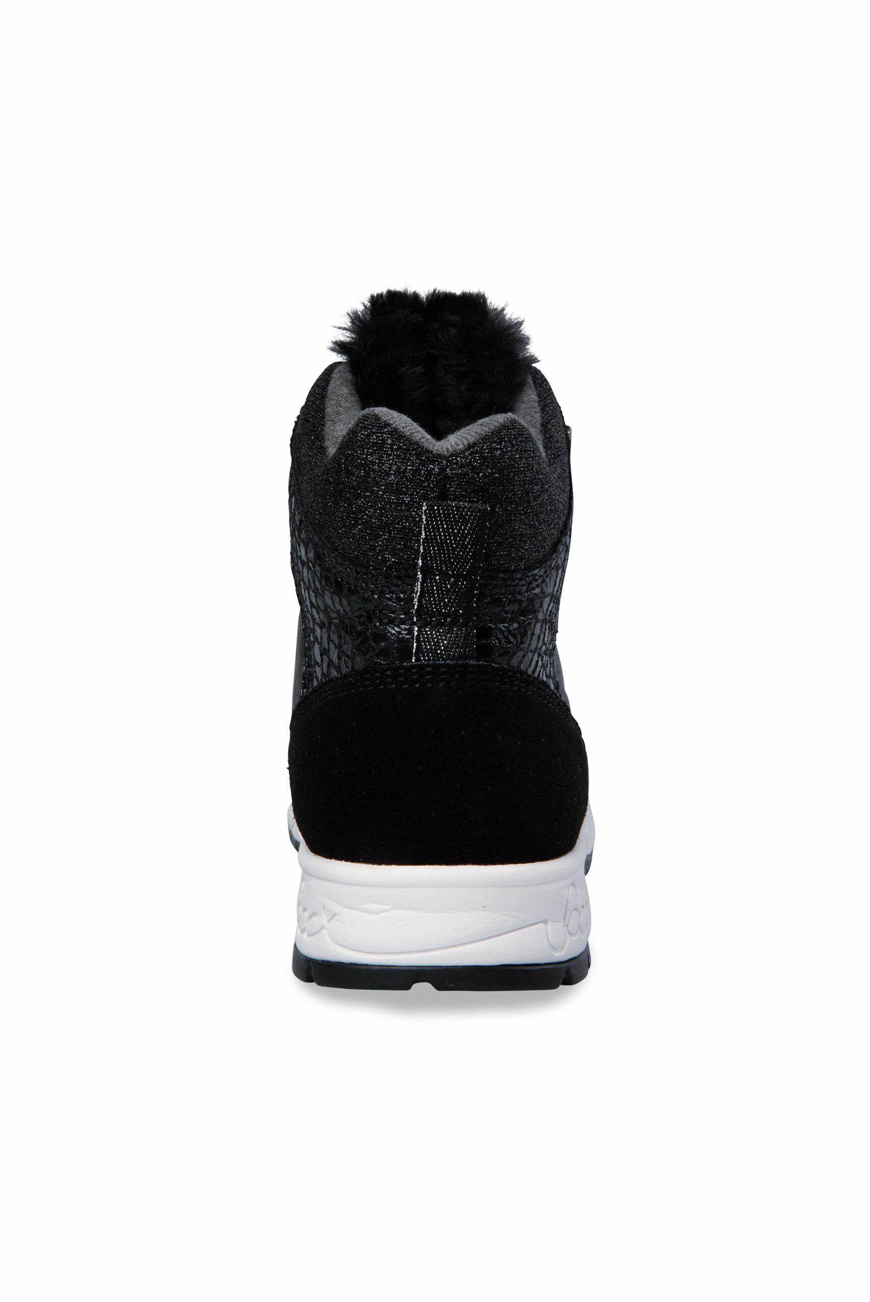High-Top Running-Sneaker im Materialmix