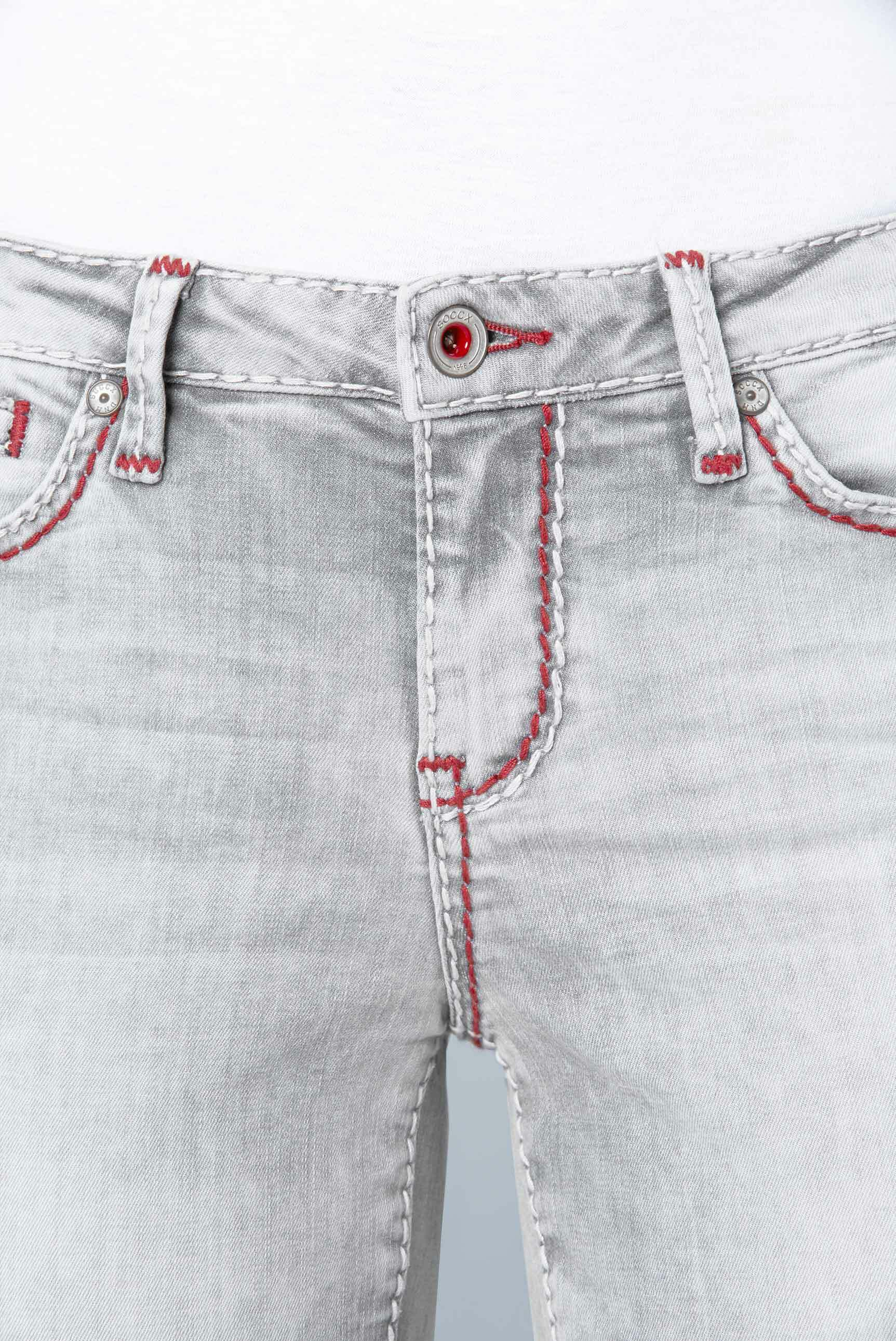 Jeans Bermudas RO:MY mit bedruckter Innenseite