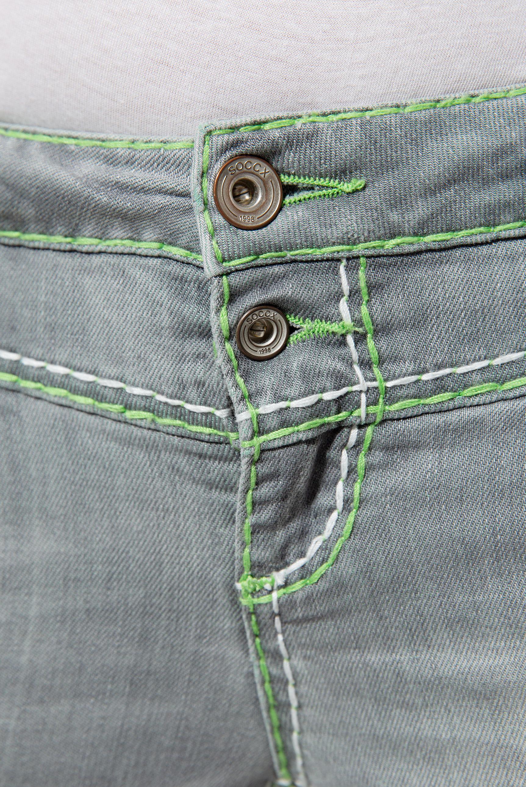 Jeans KA:RA mit breiten Kontrastnähten und Stretch