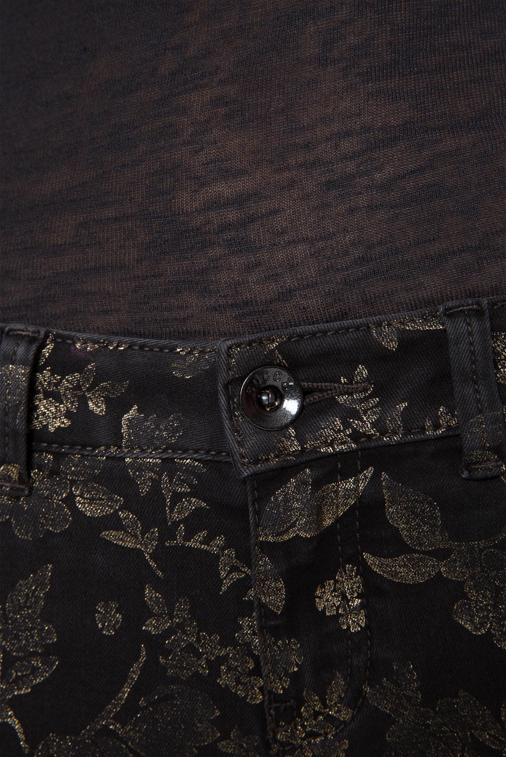 Jeans MI:RA mit Gold Flower Print