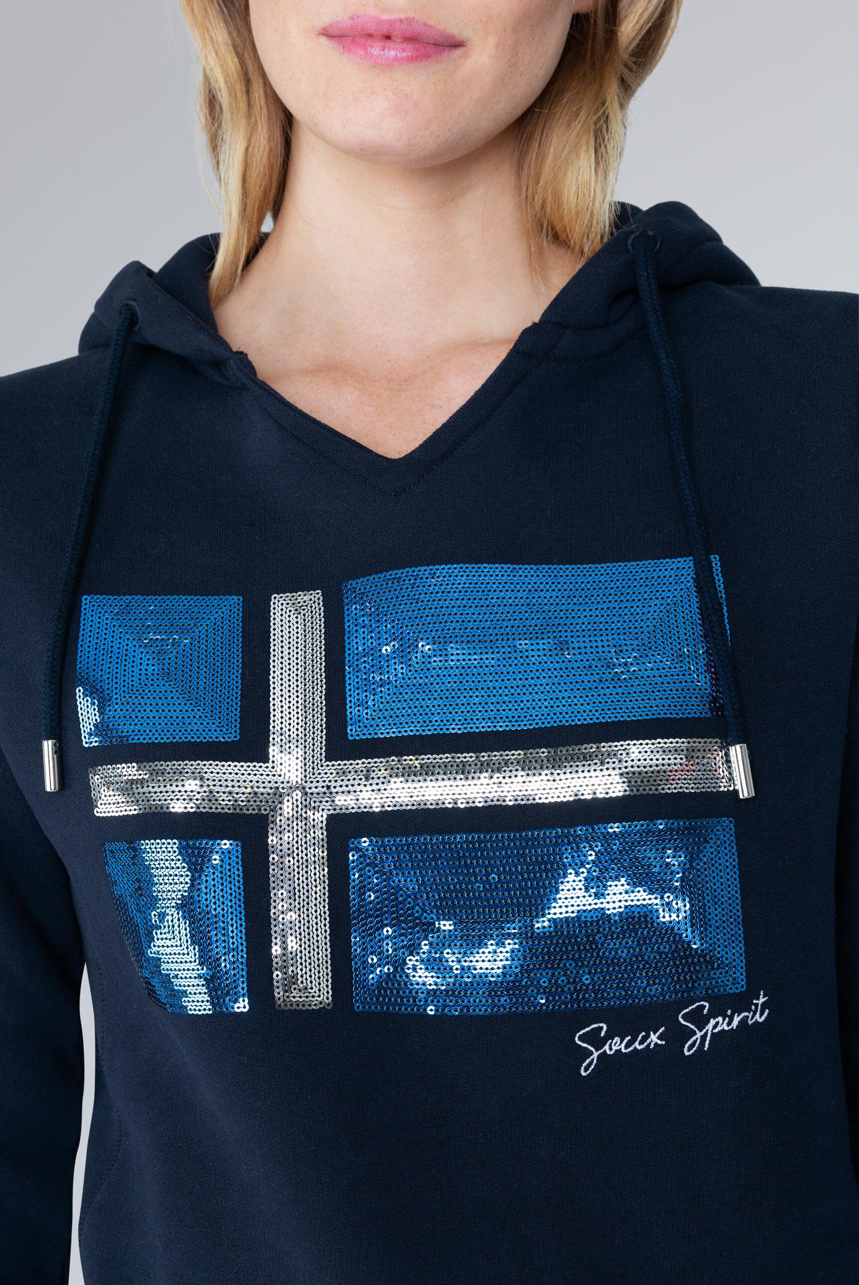 Kapuzensweatshirt mit Pailletten-Artwork