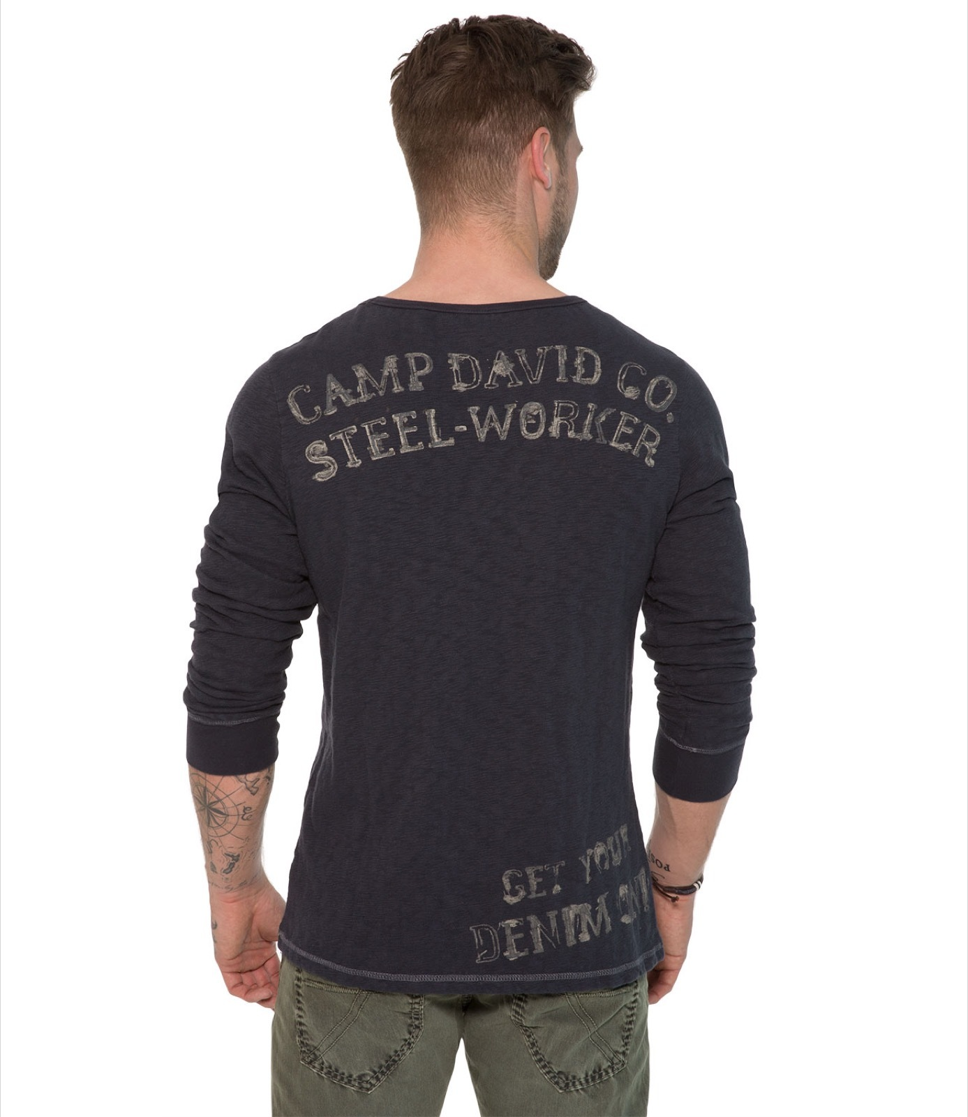 Longsleeve mit Backprint