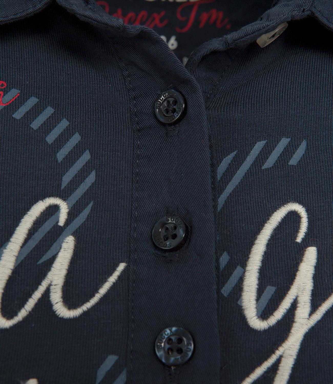 Poloshirt mit Twill-Kragen und Artwork