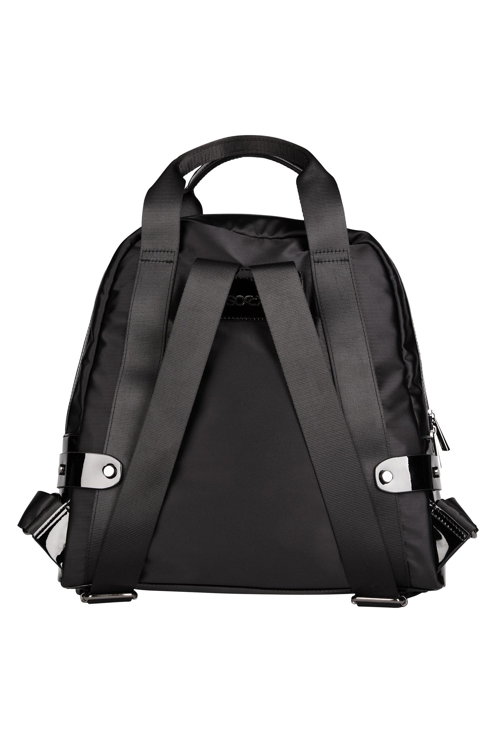 Rucksack aus Nylon mit Lack-Details
