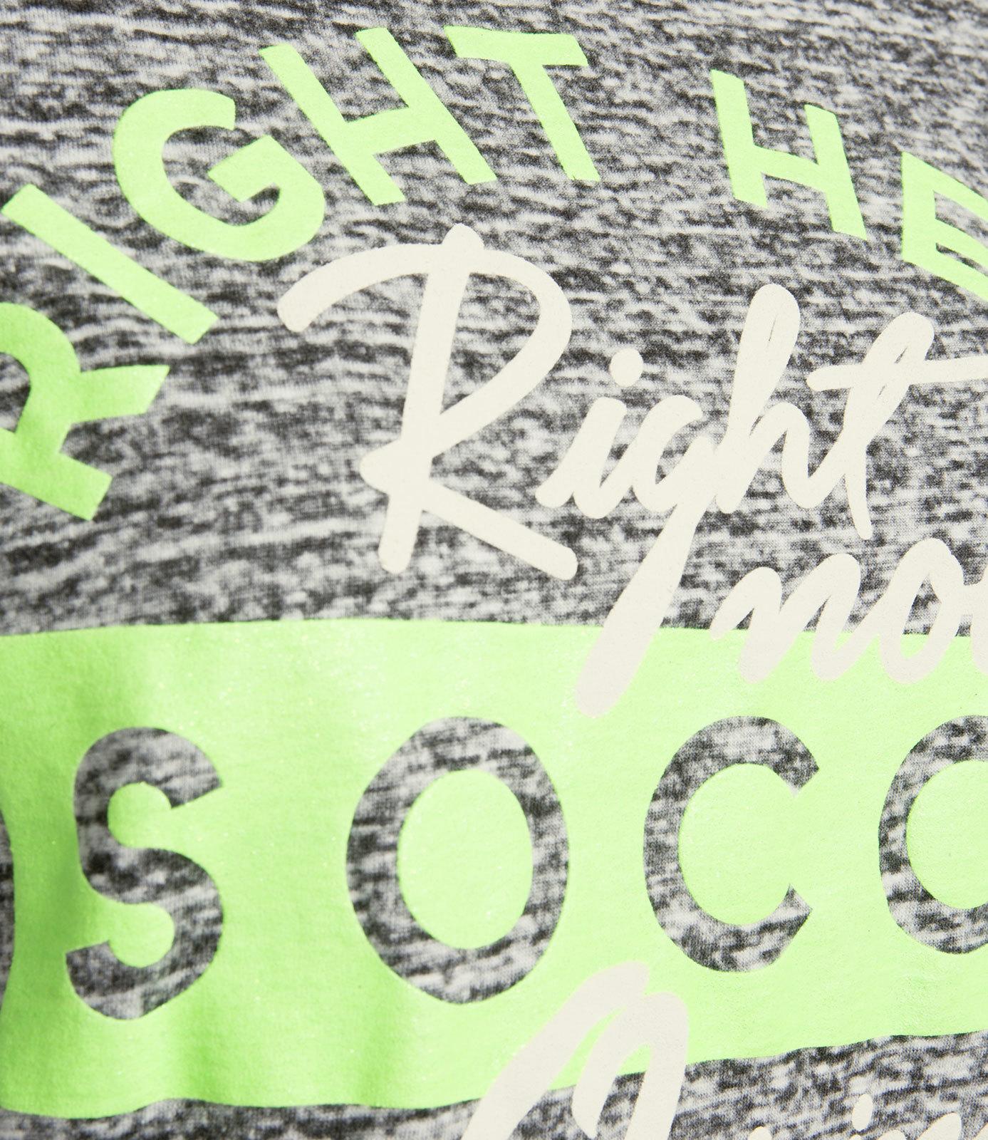 Rundhalsshirt mit Glitter Puff Print