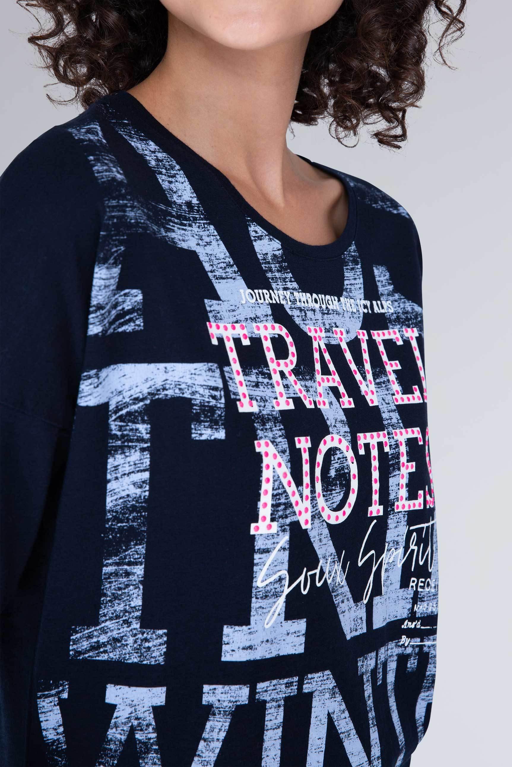 Shirt mit Wording in Used-Optik