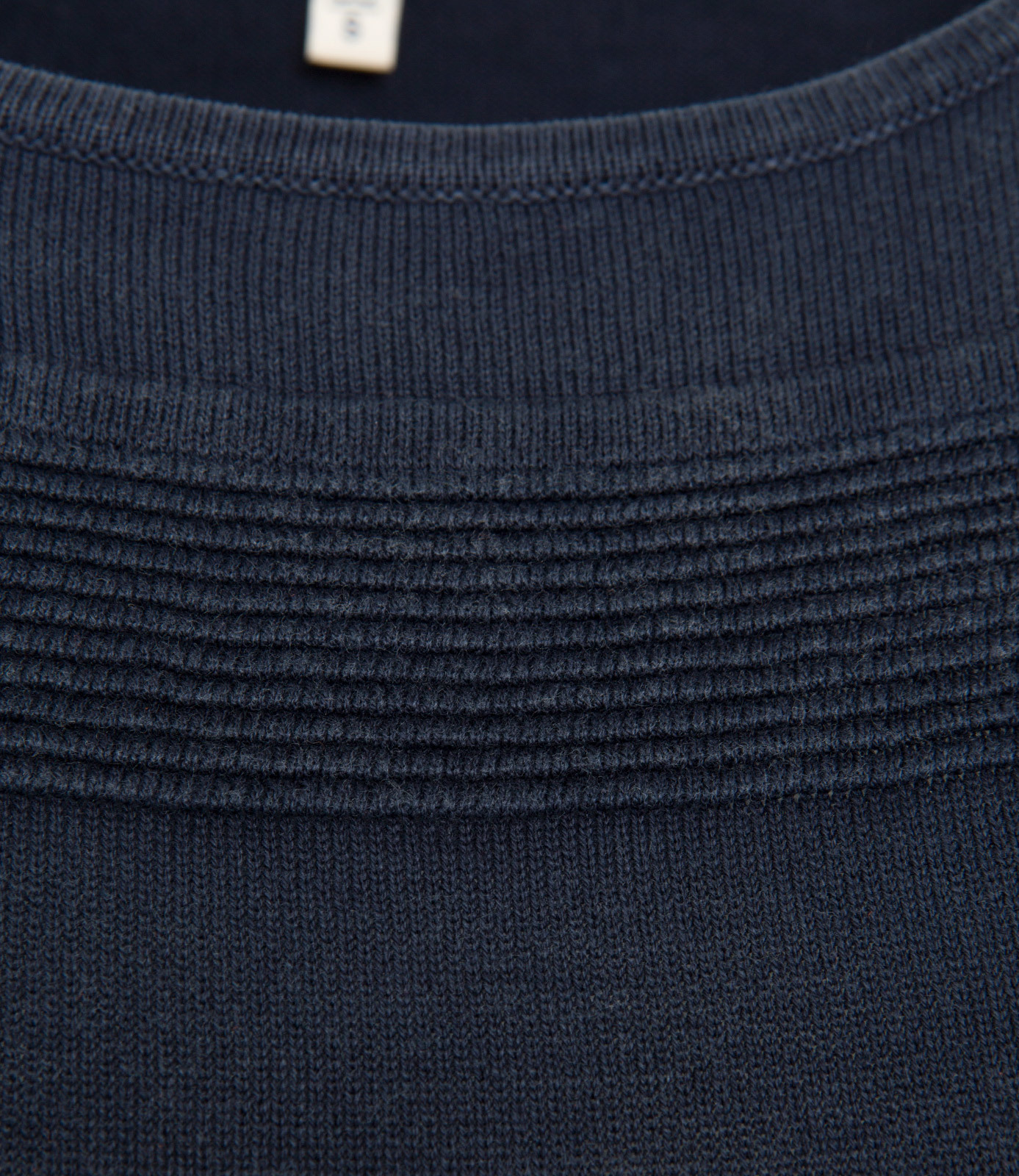Stone Washed Pullover mit Strickmuster