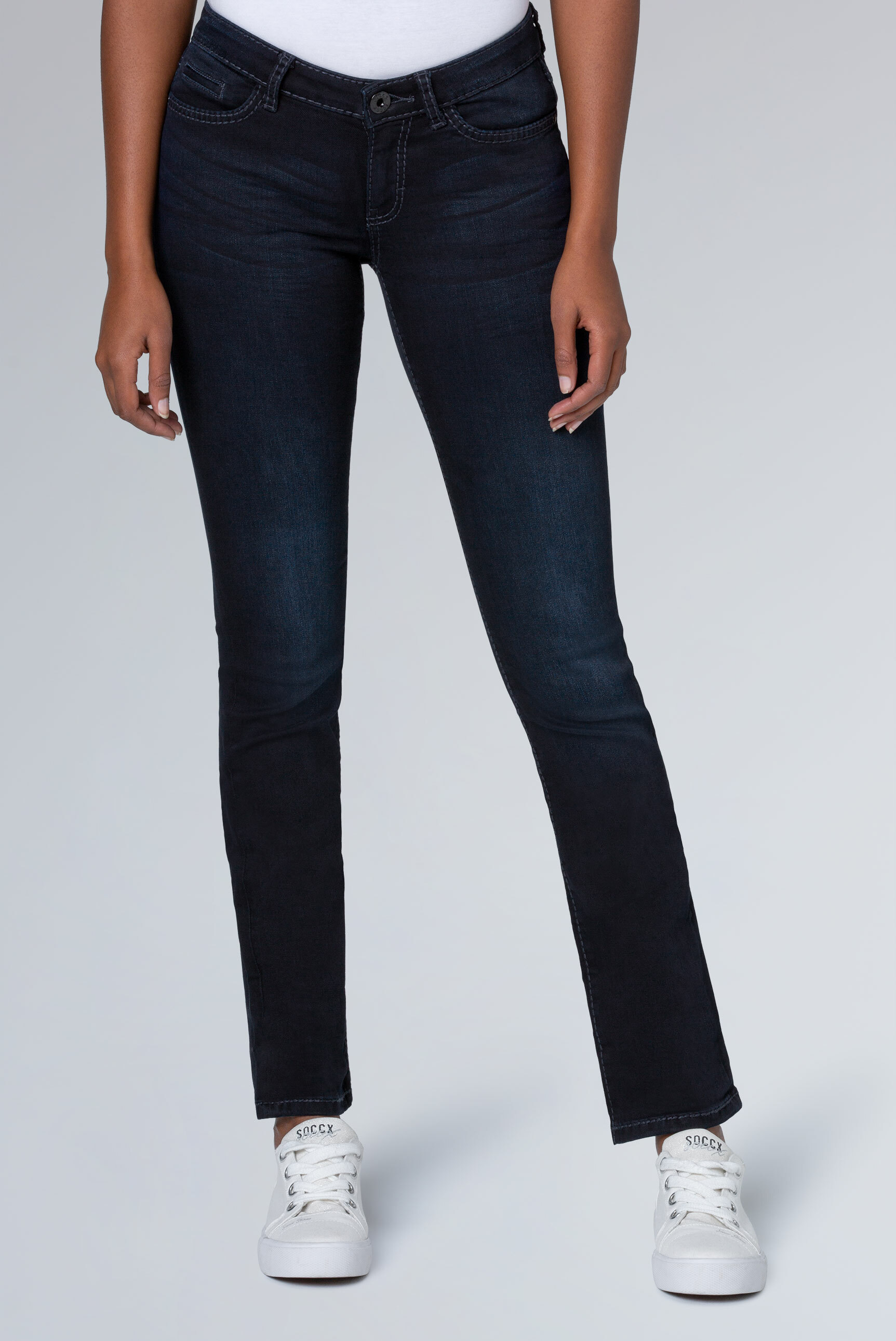 Stretch-Jeans RO:MY, blue black used
