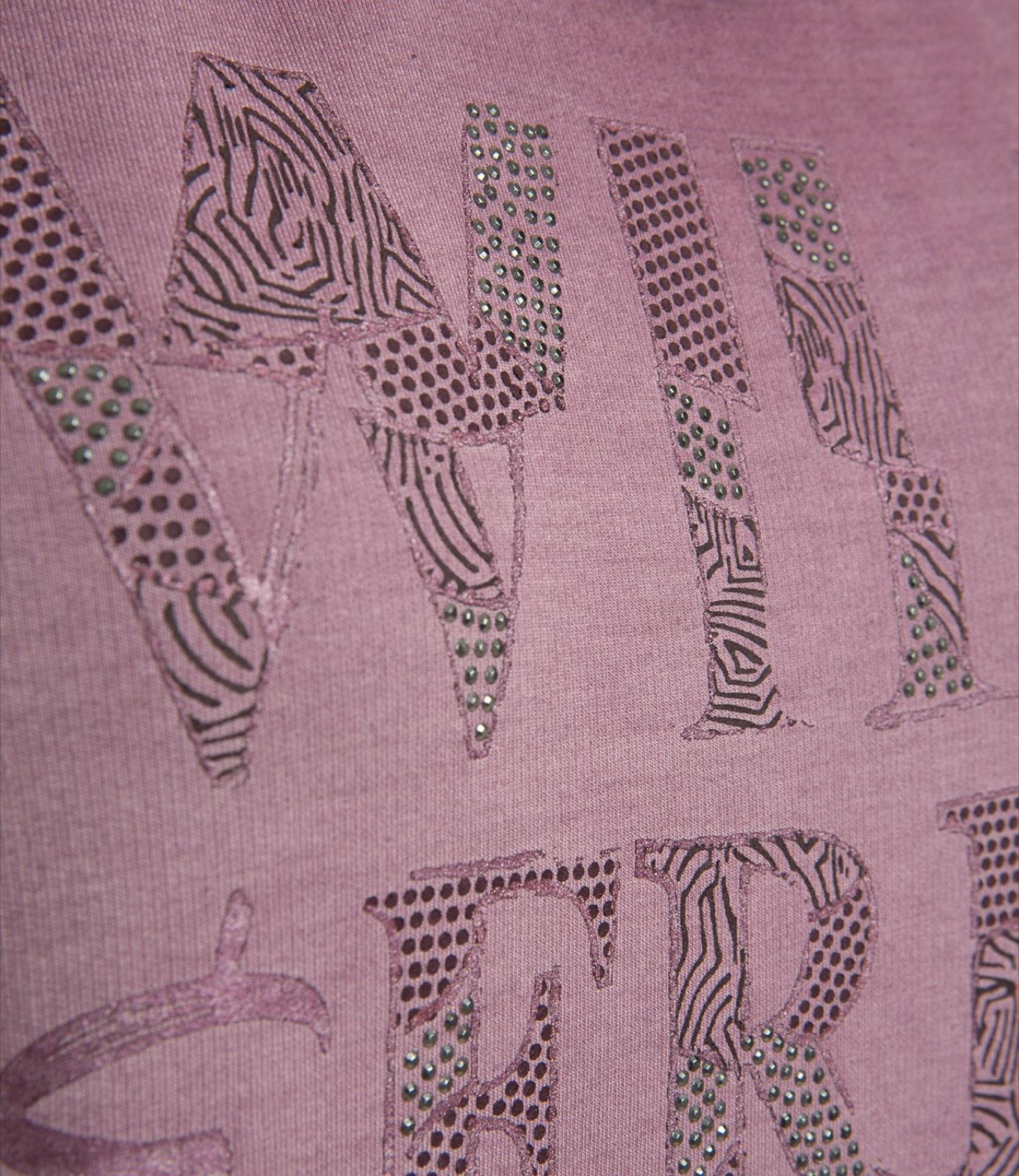 Sweatshirt mit Rubber Prints & Glitzersteinchen
