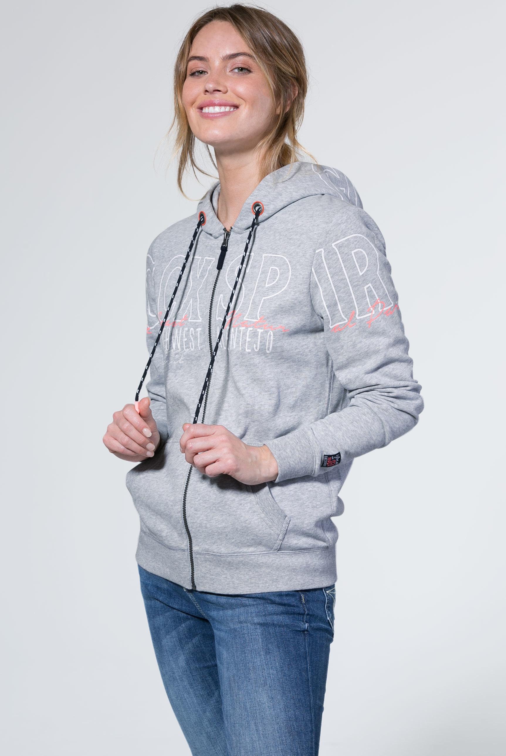 Sweatshirtjacke mit Kapuze und Artwork