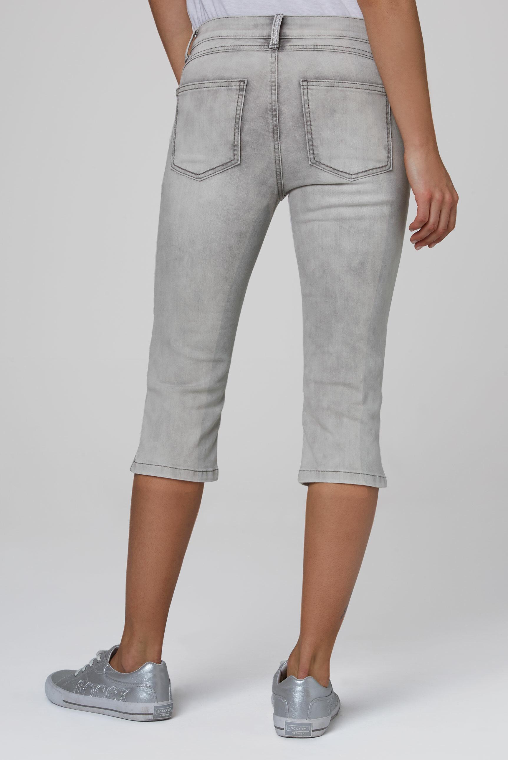 Capri Jeans KY:LI mit Taschenstickerei