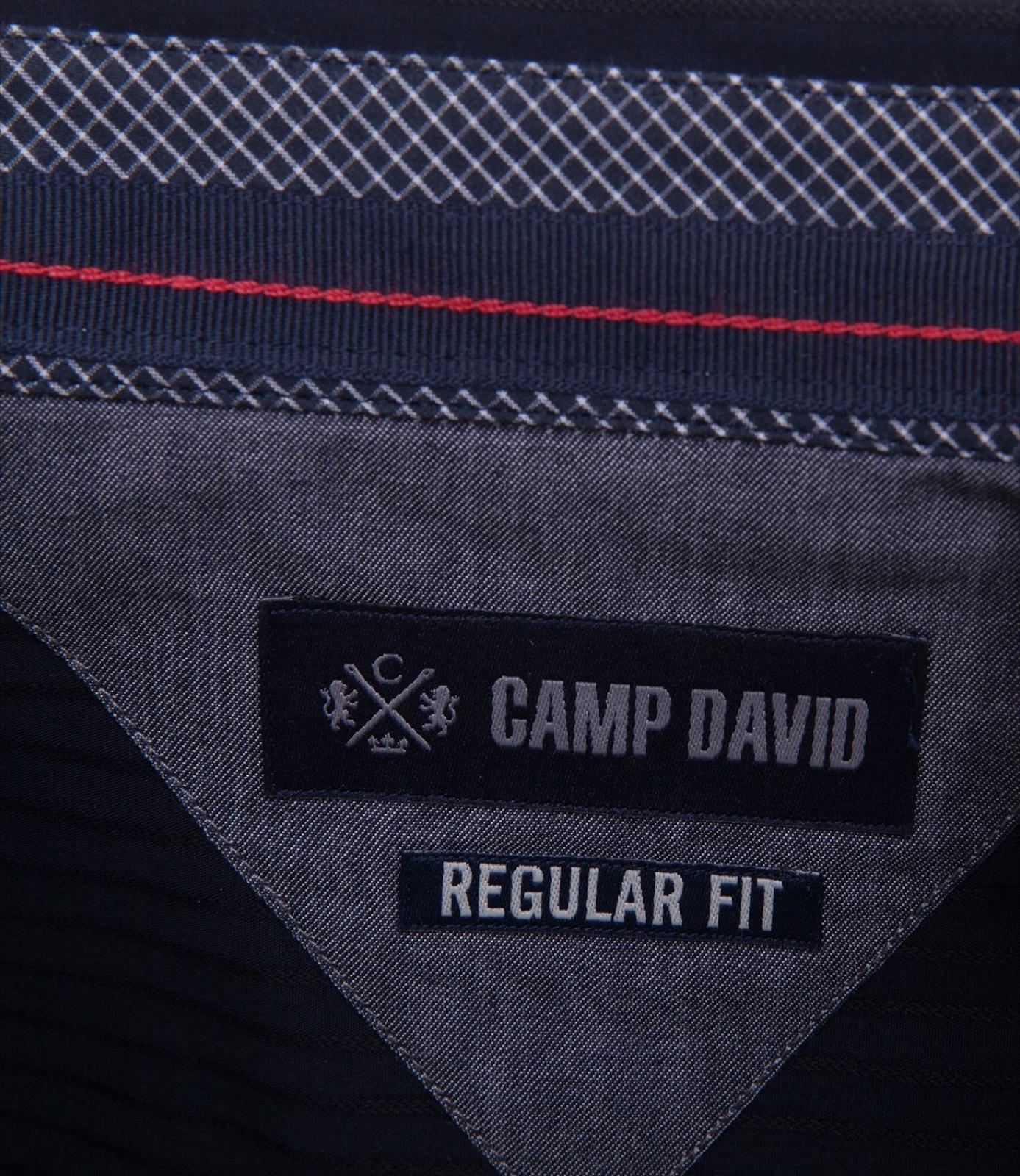 Hemd mit Webstreifen, Regular Fit