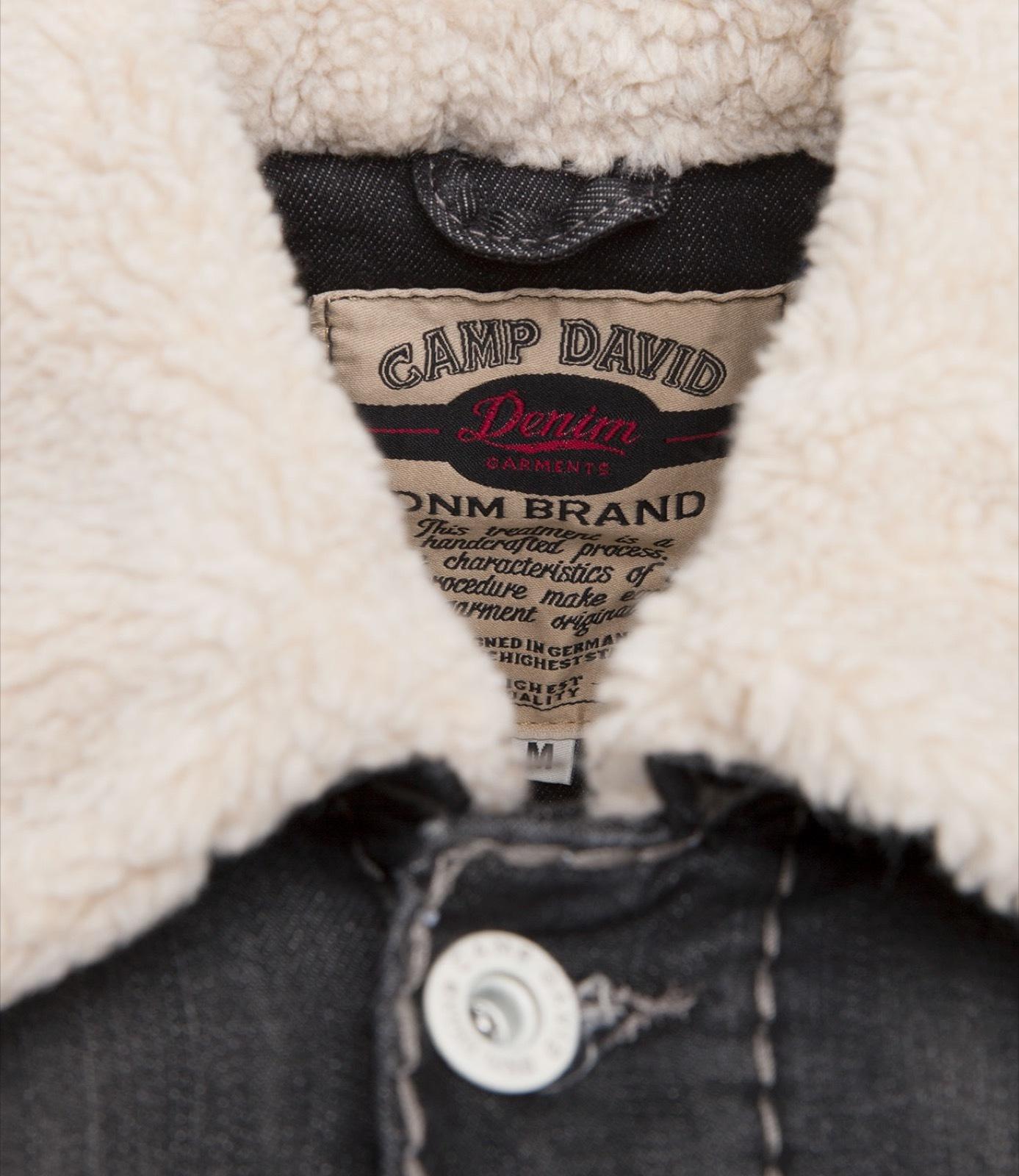 Jeansjacke mit Sherpa-Futter