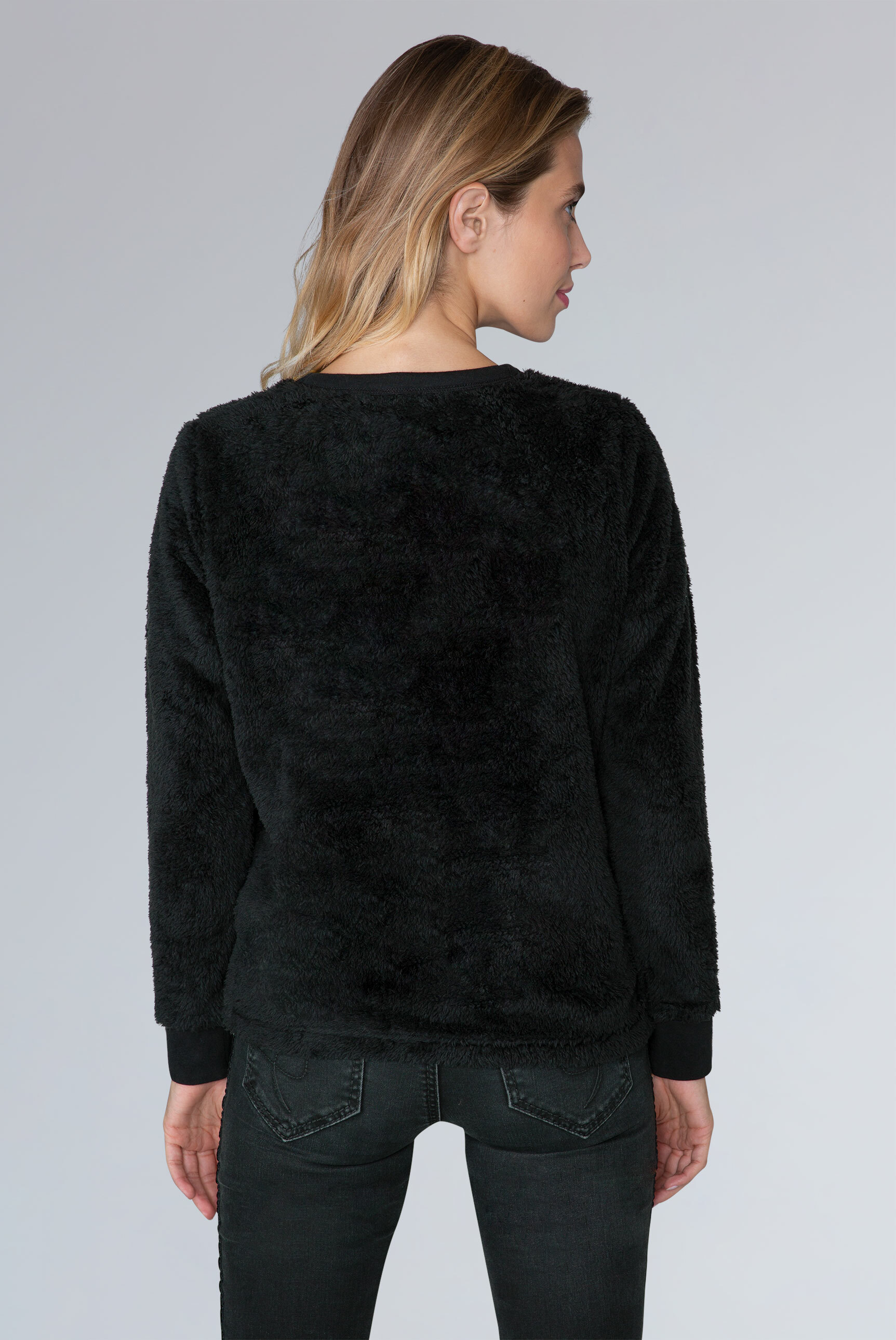 Logo-Sweatshirt aus Coral-Fleece